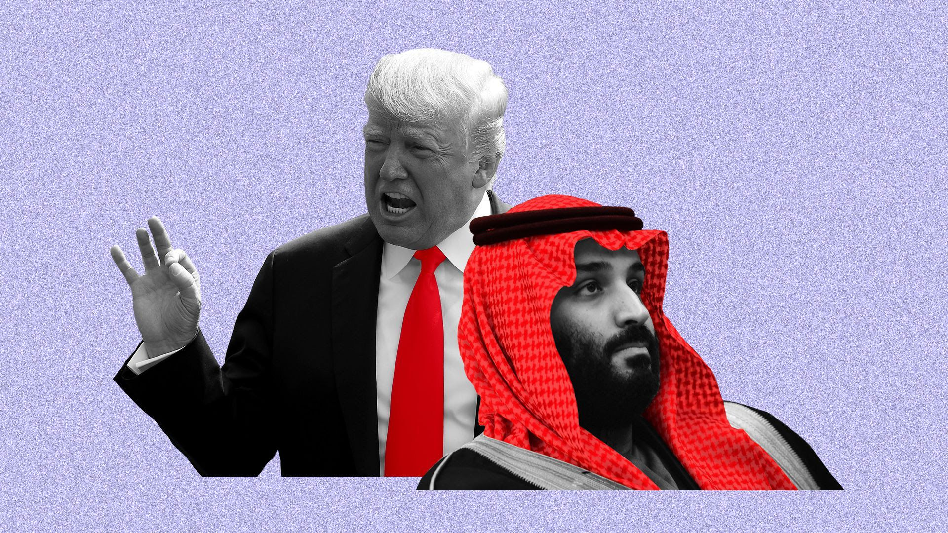 Illustration of Trump and MBS