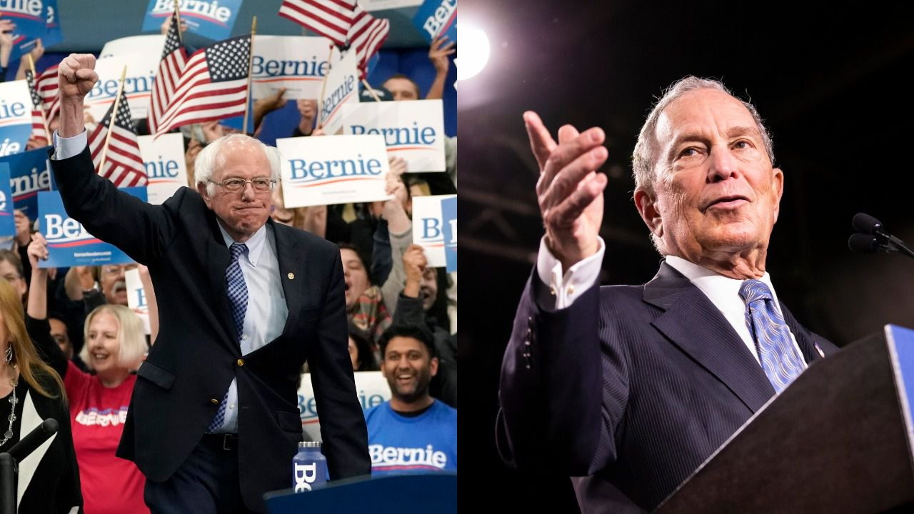 """Sanders accuses Bloomberg of trying to """"buy"""" the 2020 election - Axios"""