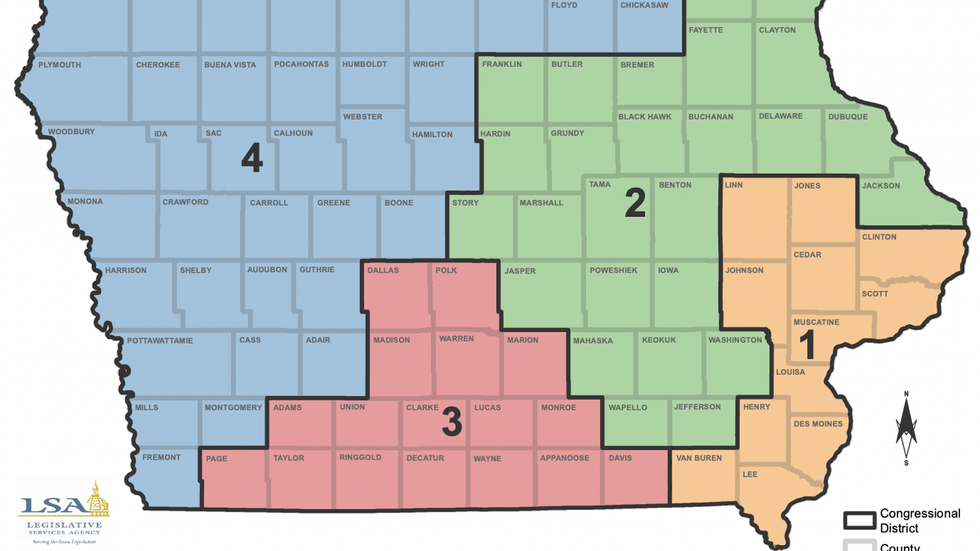 proposed congressional map from LSA.