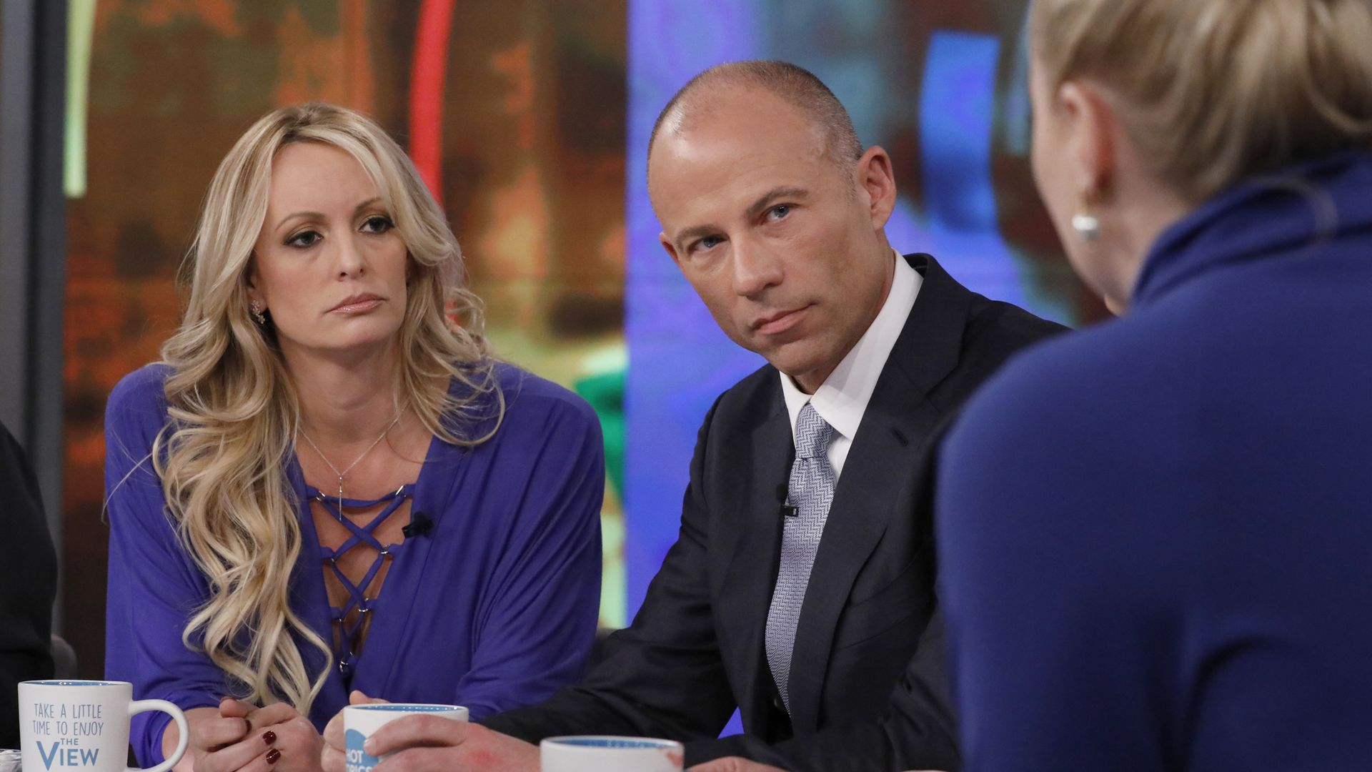 Stormy Daniels and attorney Michael Avenatti.