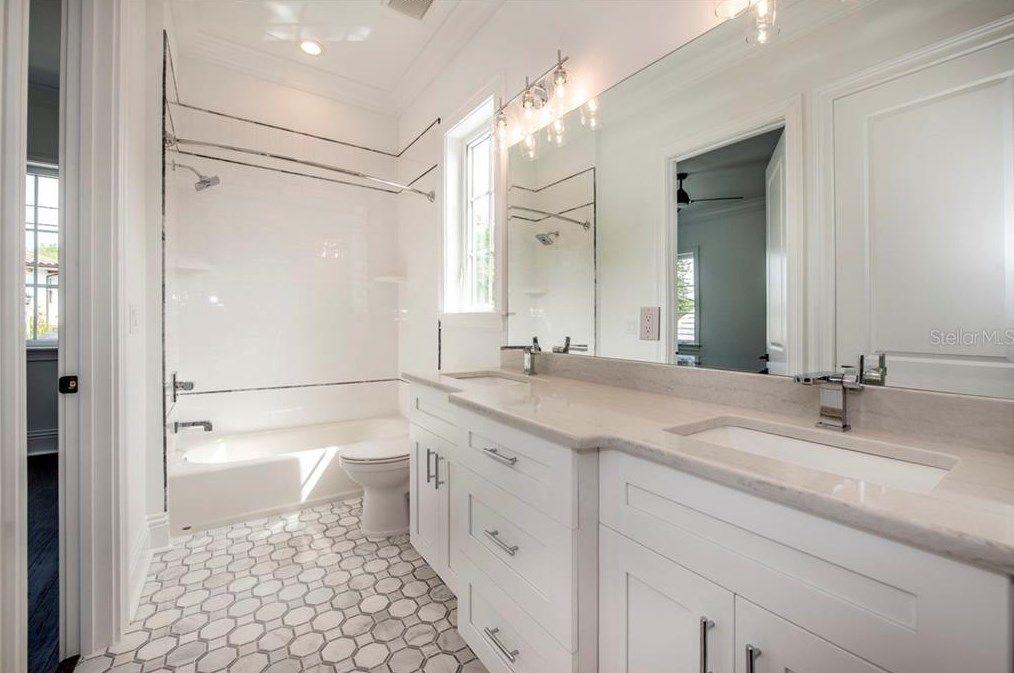 St. Pete church turned luxury home bathroom