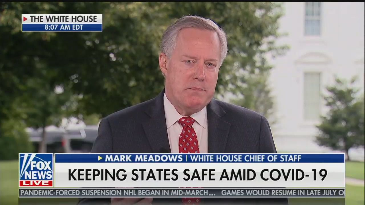 "Meadows: Trump ""is right"" to claim 99% of coronavirus cases are ""harmless"""
