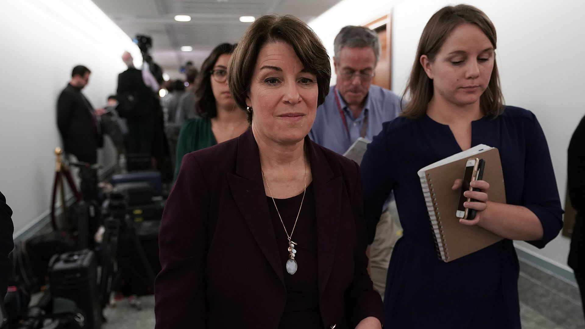 Amy Klobuchar in Capitol Hill.