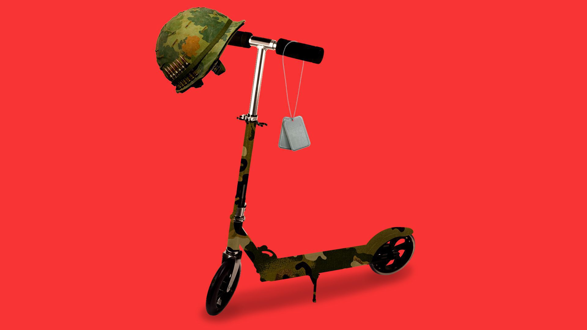 Illustration of an electric scooter