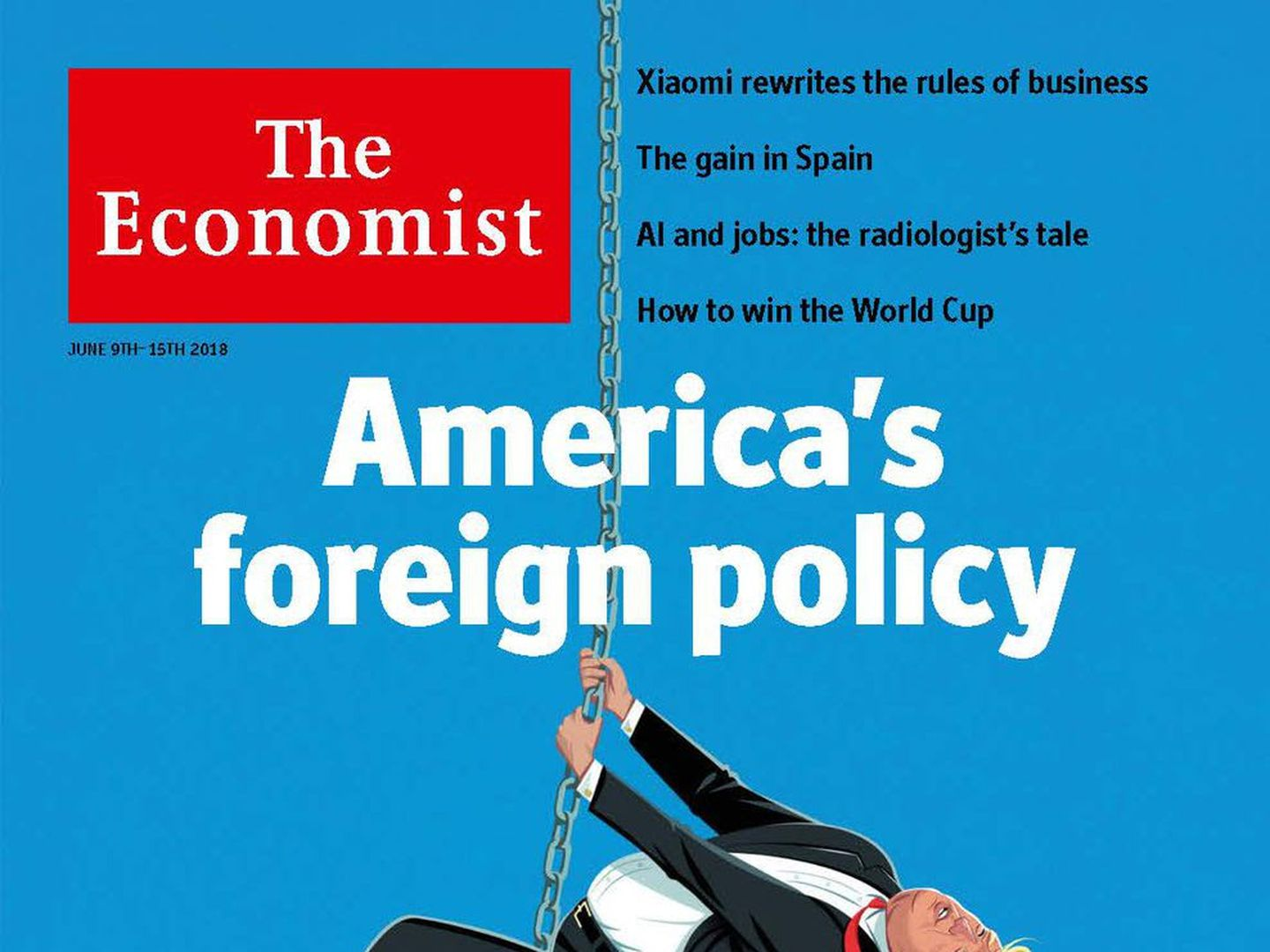 Image result for Trump the demolition man, The Economist Cover