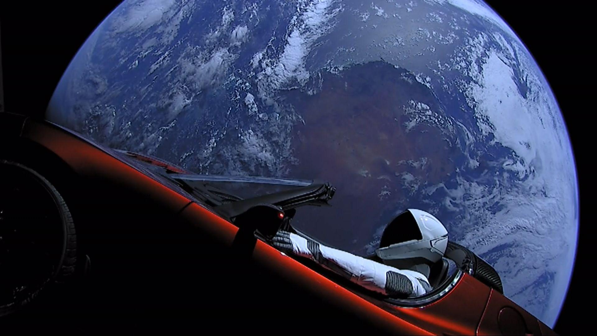 Tesla in space