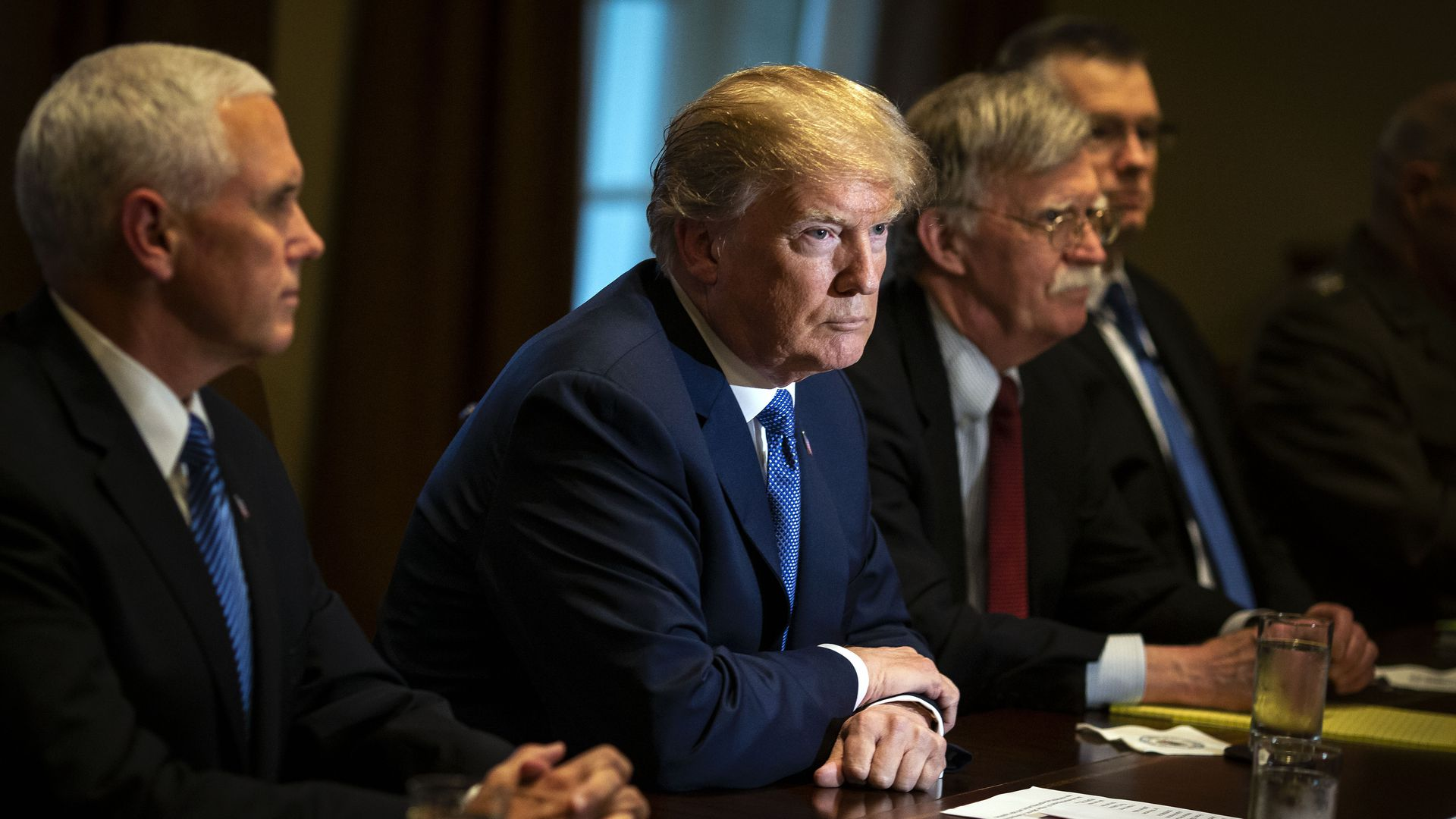President Trump in a Cabinet meeting on April 9, 2018