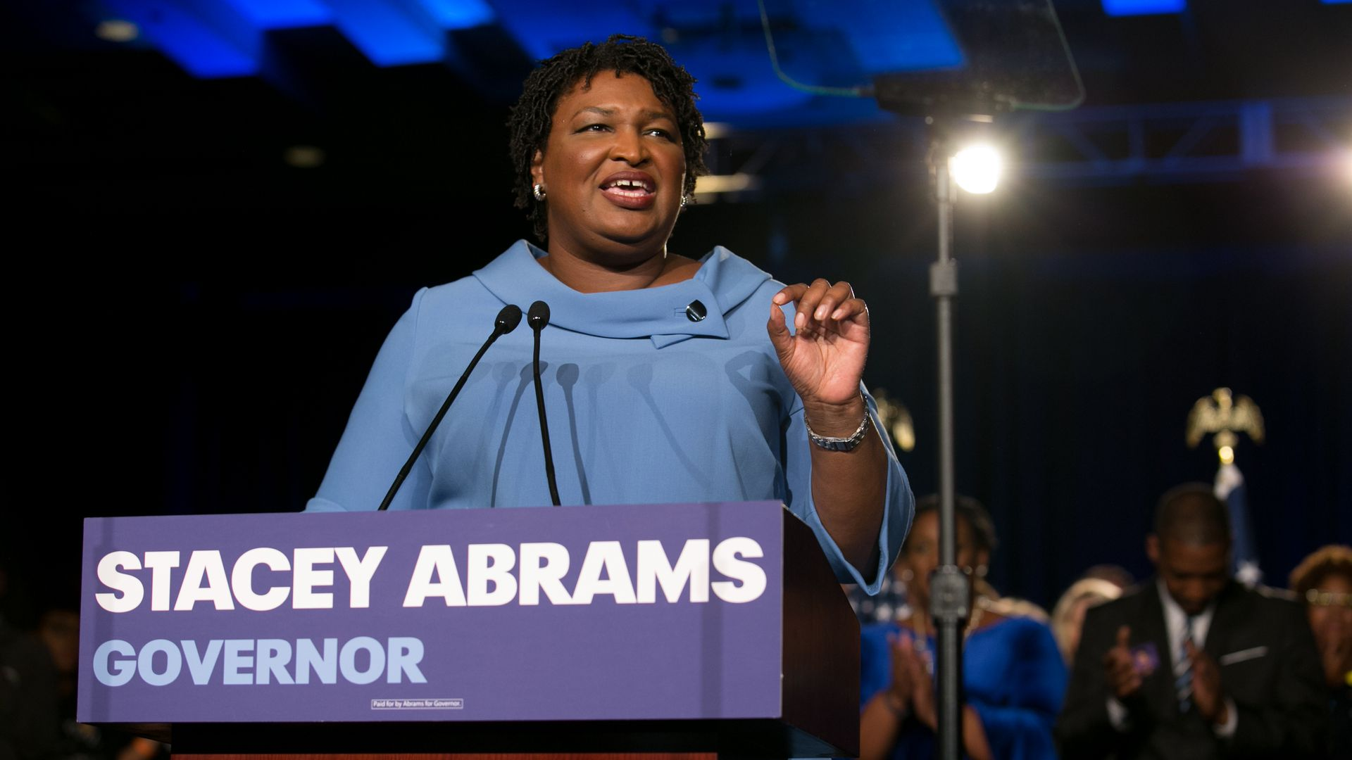 Former Georgia Democratic Gubernatorial candidate Stacey Abrams.