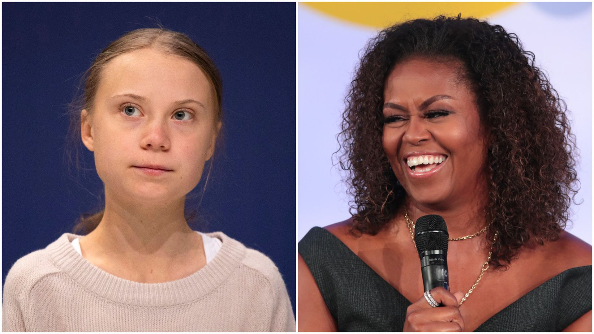"Michelle Obama tells Greta Thunberg to ""ignore the doubters"""