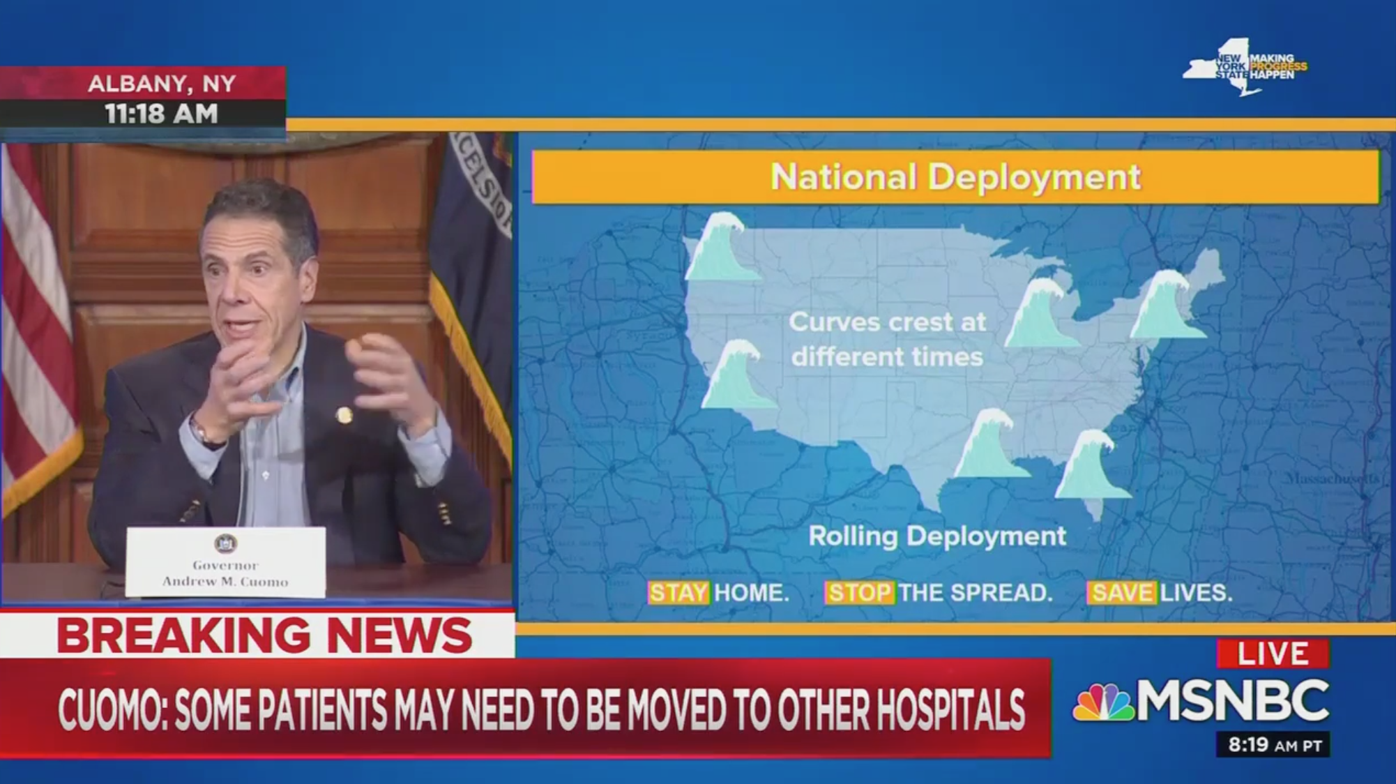 """Cuomo says New York is """"literally going day-to-day with our supplies"""""""