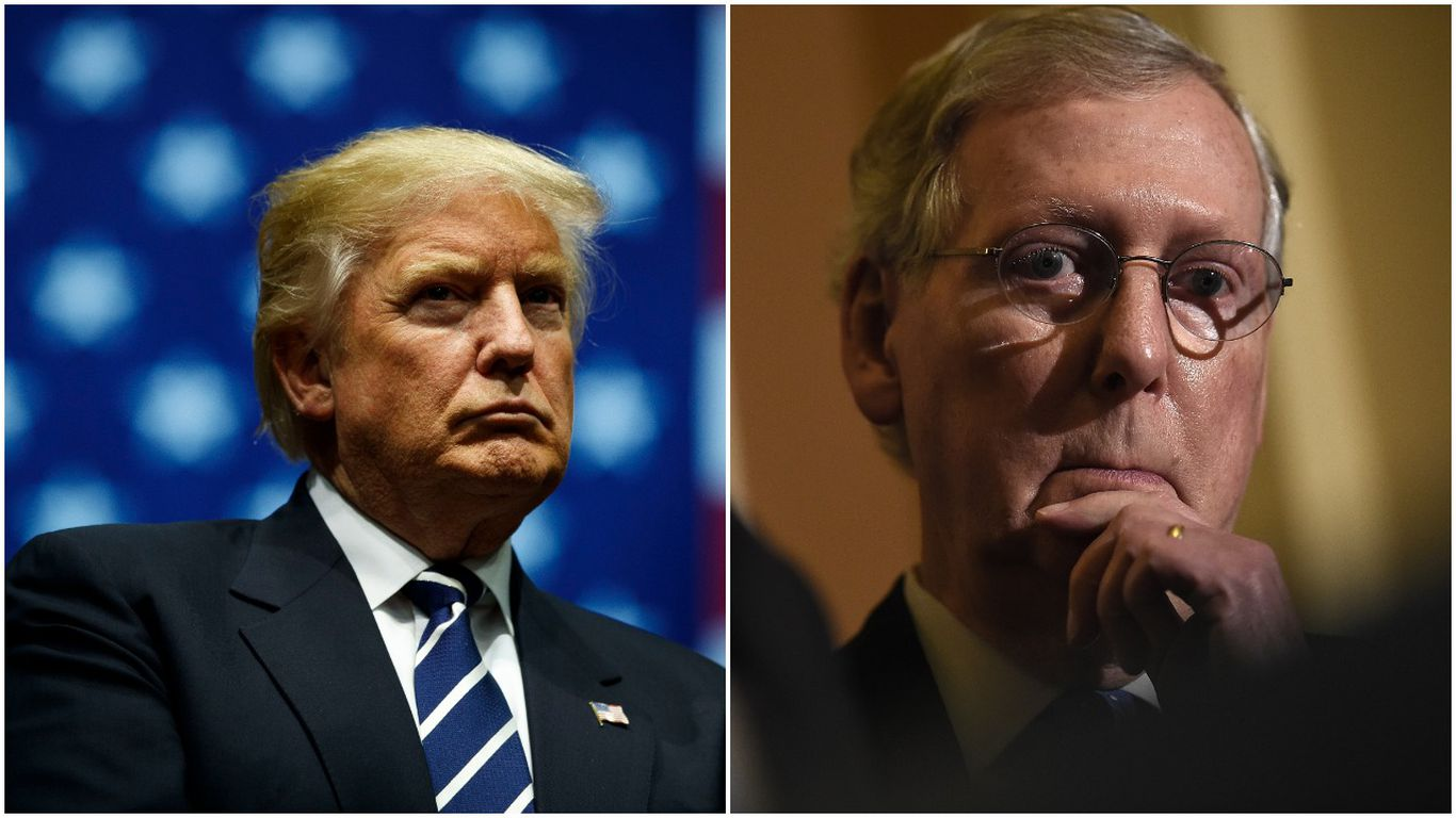 """Trump: GOP senators """"will not win again"""" if they support McConnell thumbnail"""