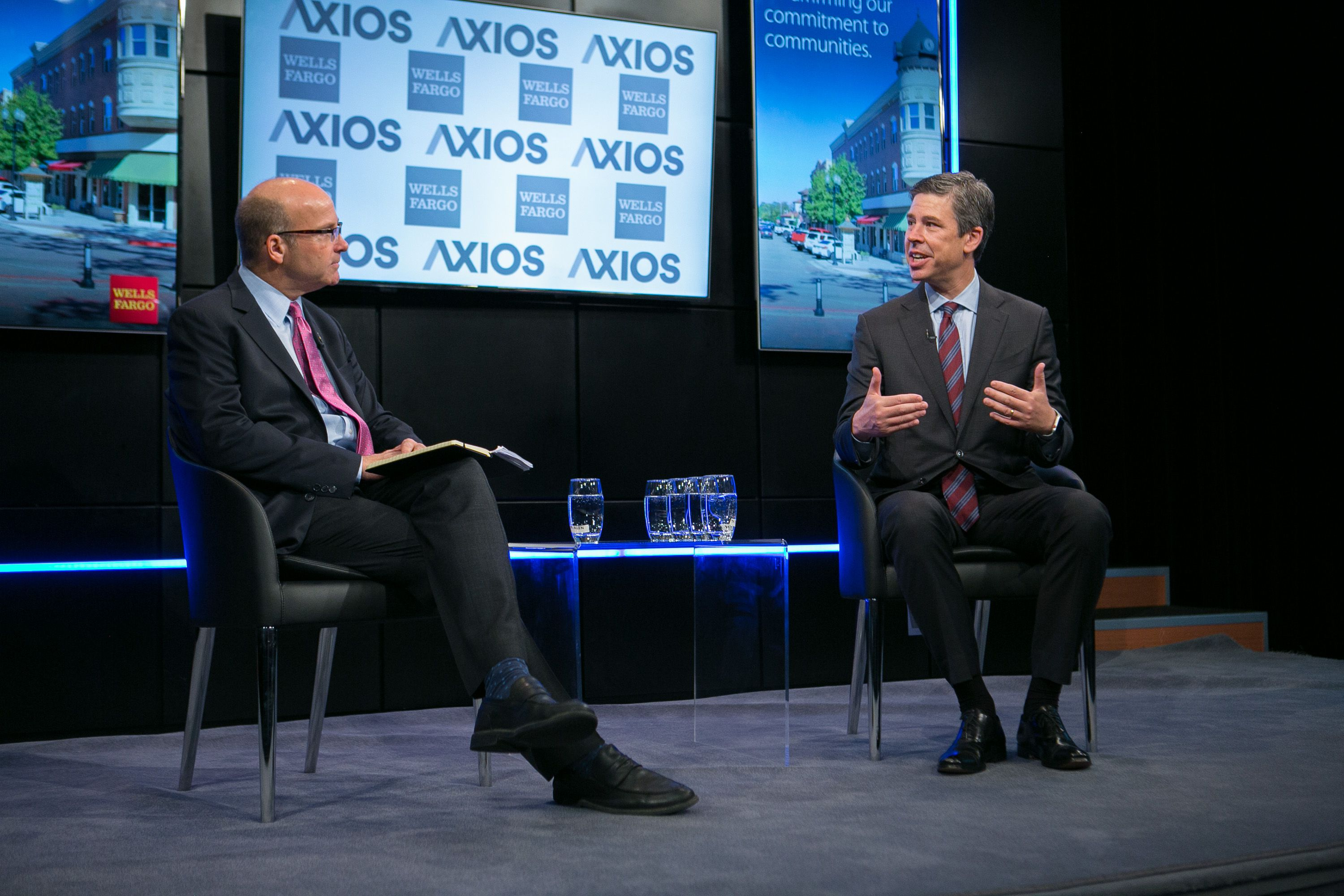 Mike Allen interviews Mayor Andy Burke on the Axios stage