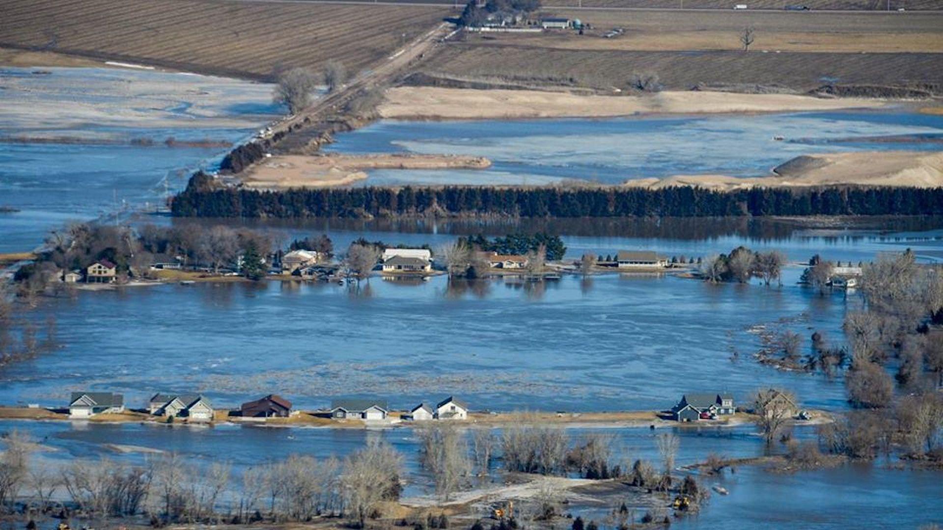 Historic floods causing widespread damage in Nebraska, Iowa