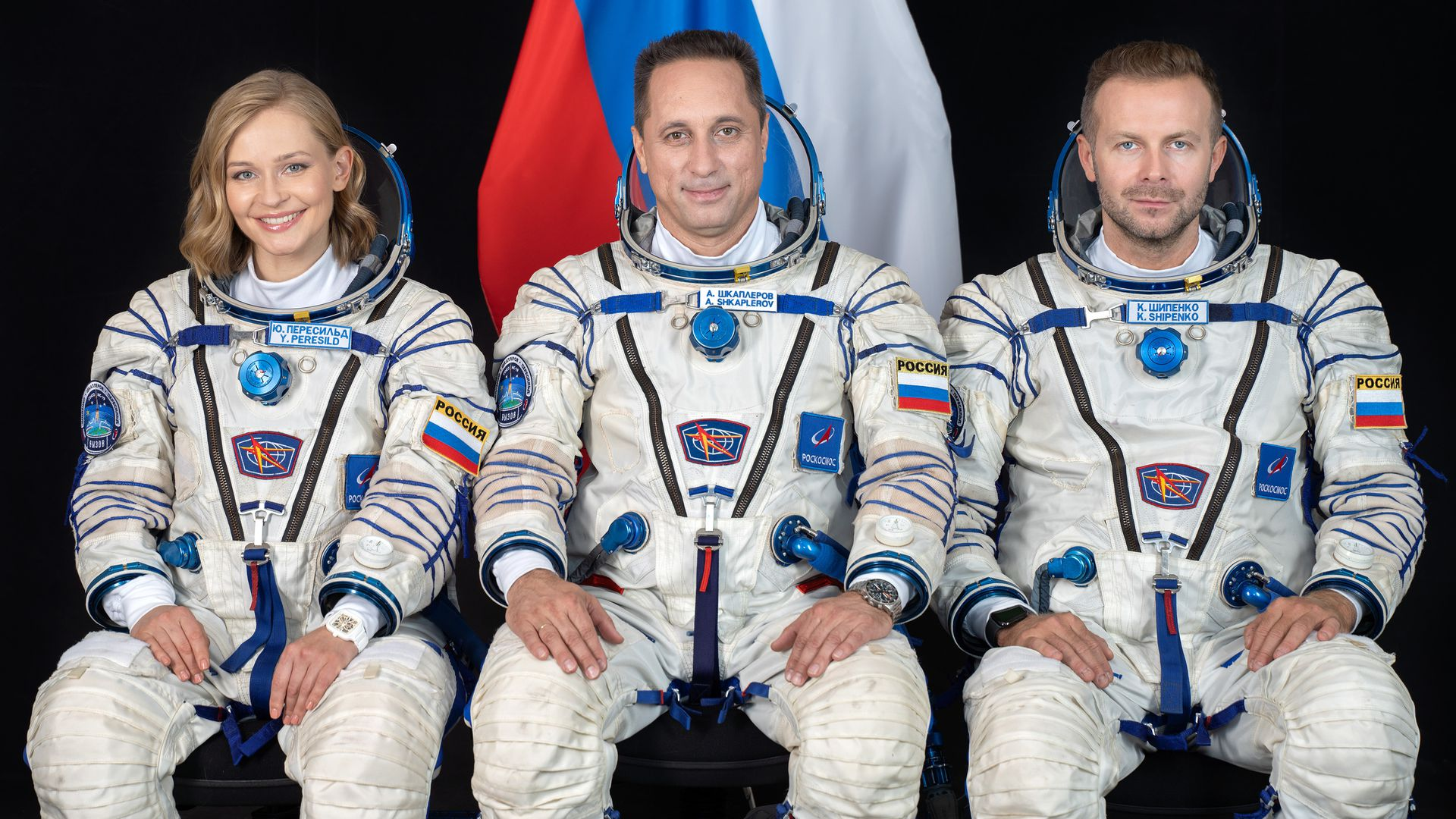 Russian crew takes off to film first movie in space