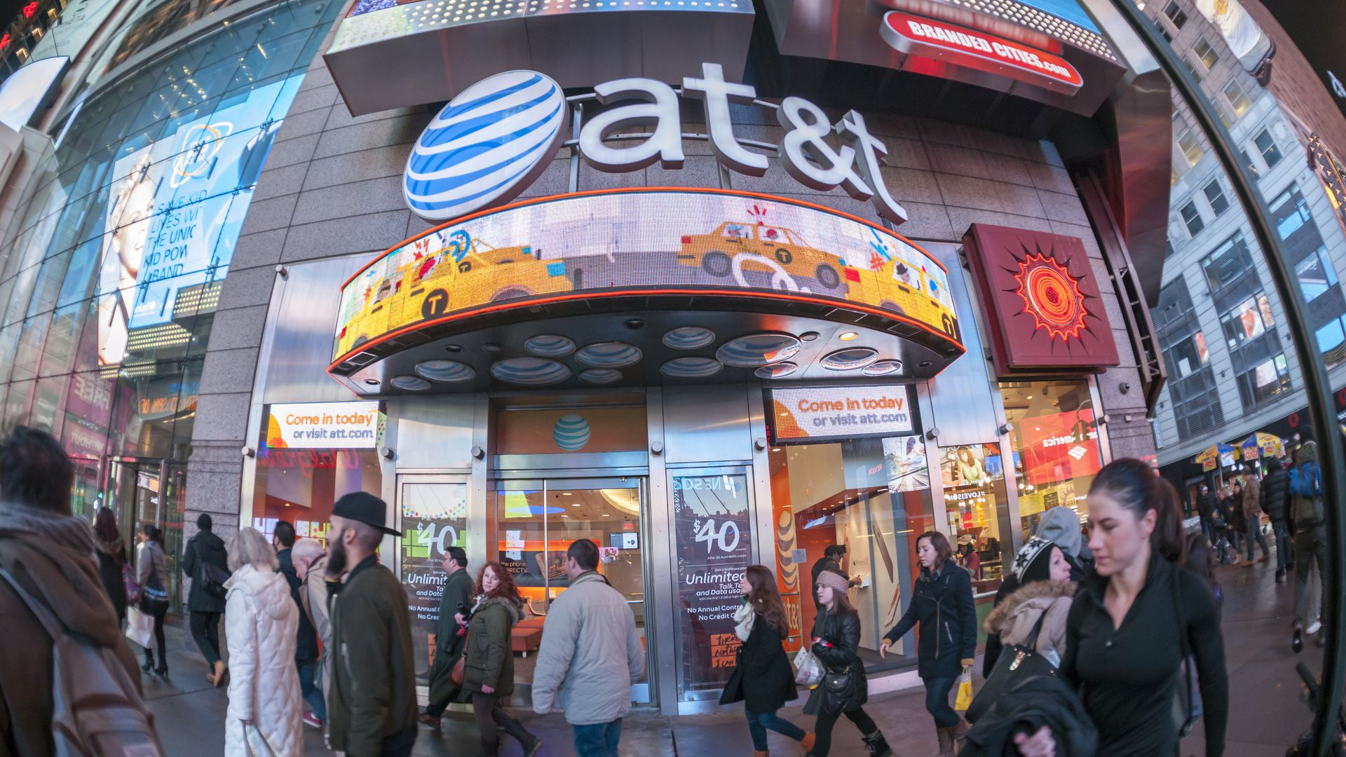 AT&T store in Times Square