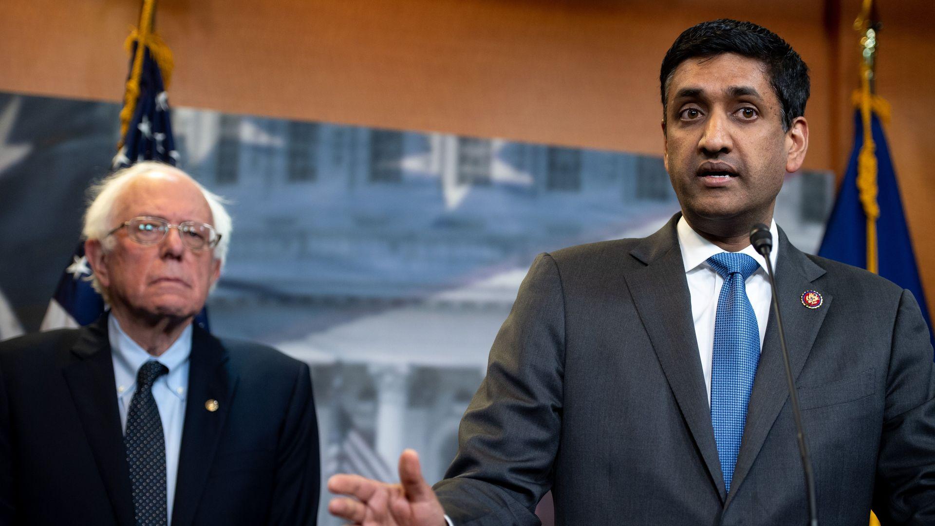 Ro Khanna with Bernie Sanders