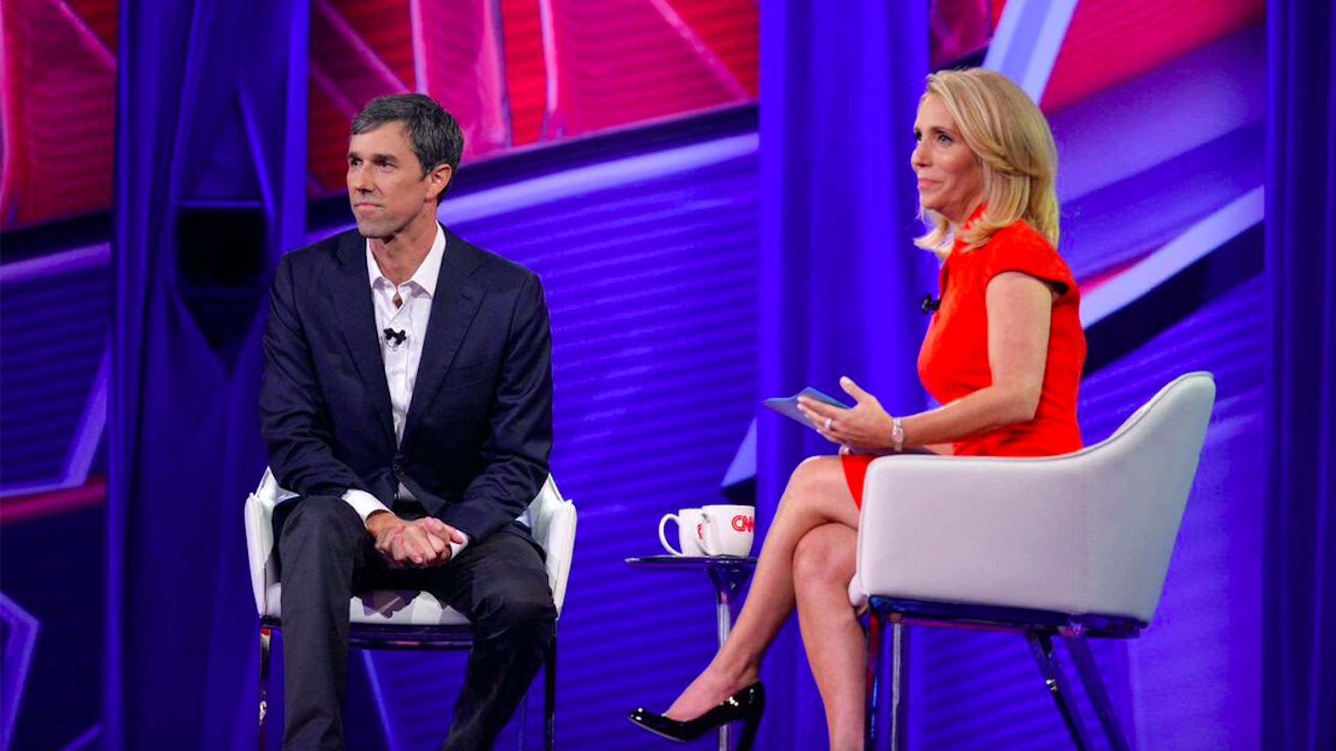 CNN's Dash Bash on stage during a town hall with Texas Senate Democratic candidate Beto O'Rourke.