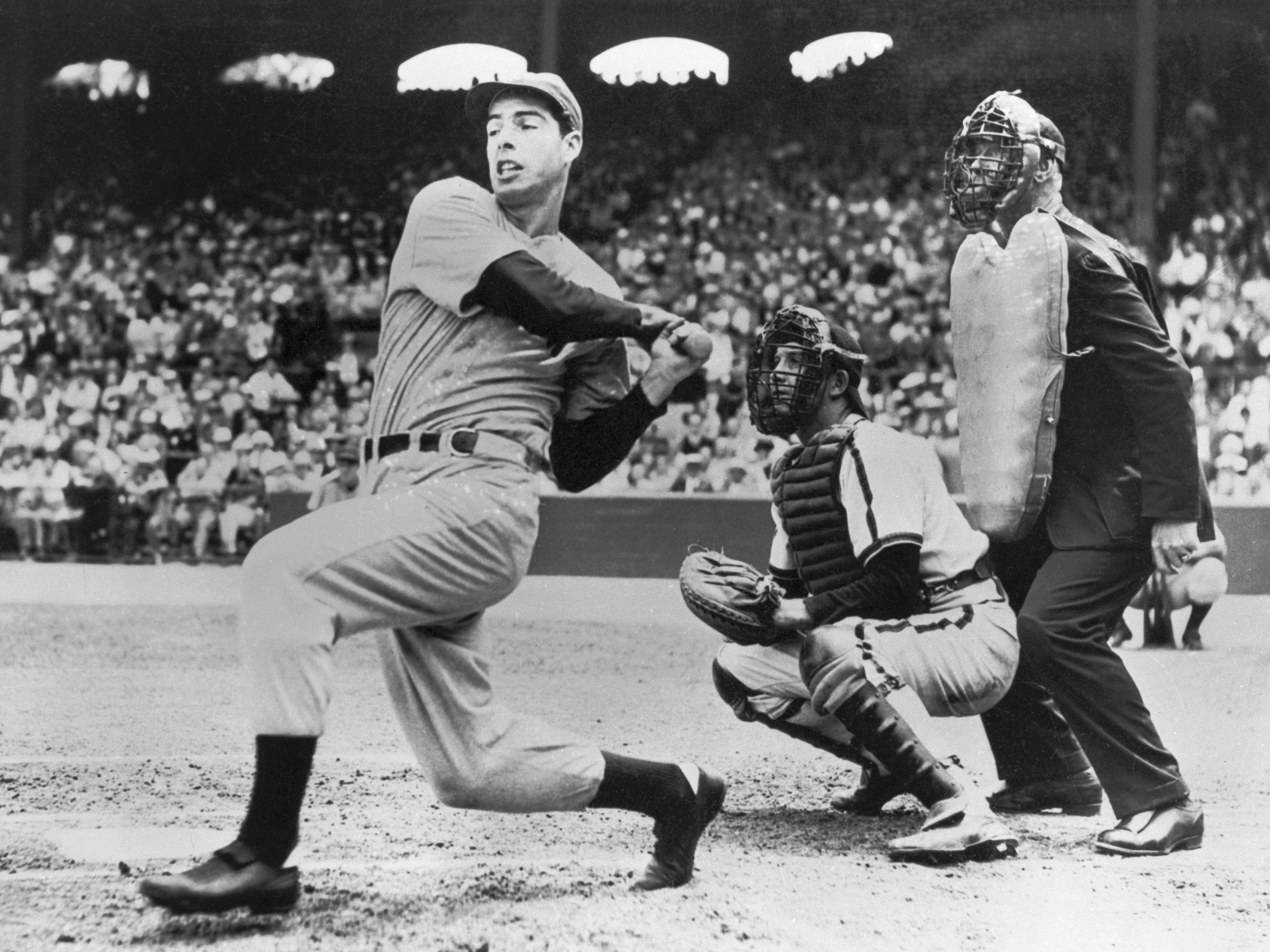 Joe DiMaggio at the plate