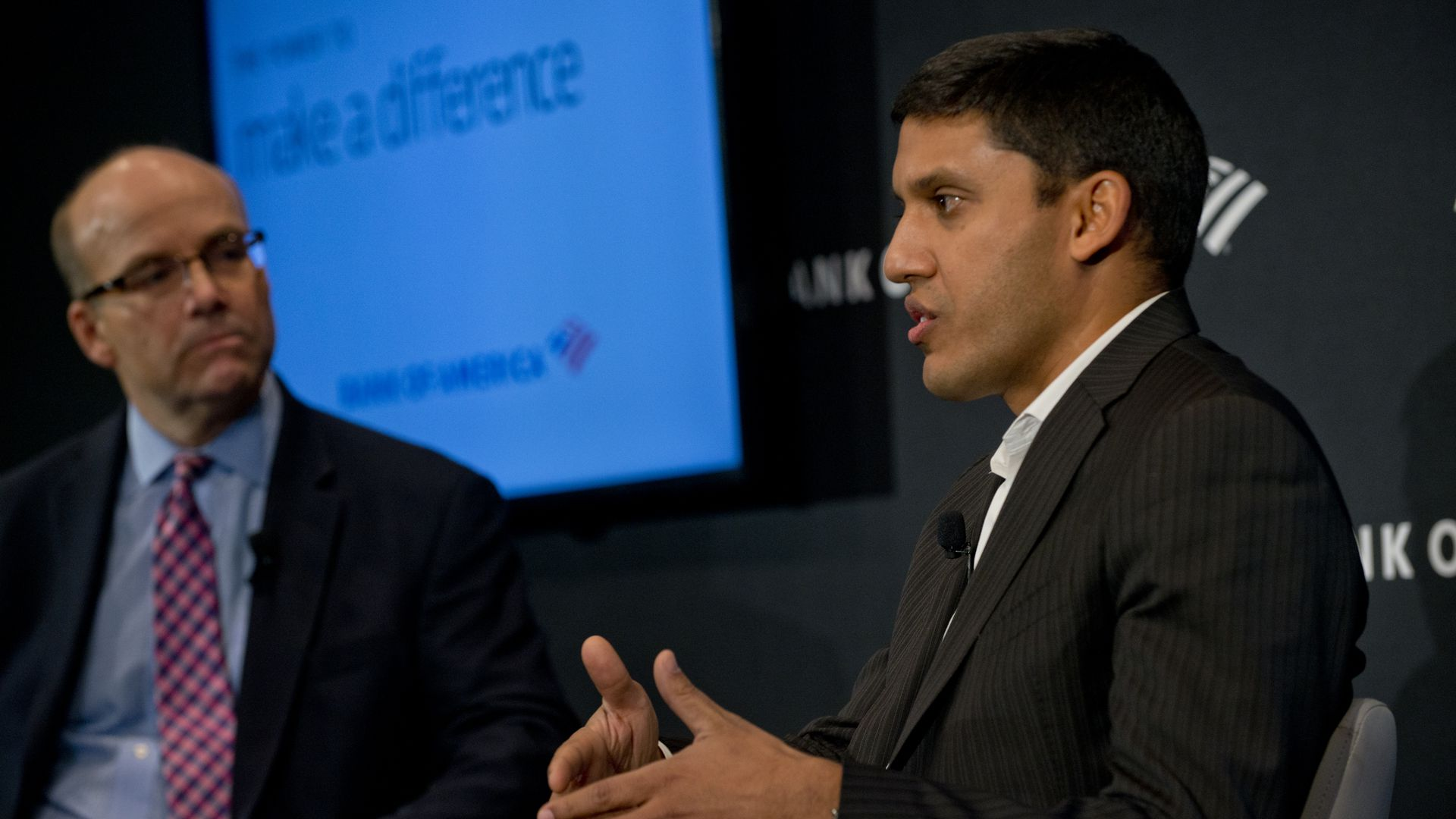 Dr. Rajiv Shah on the Axios stage