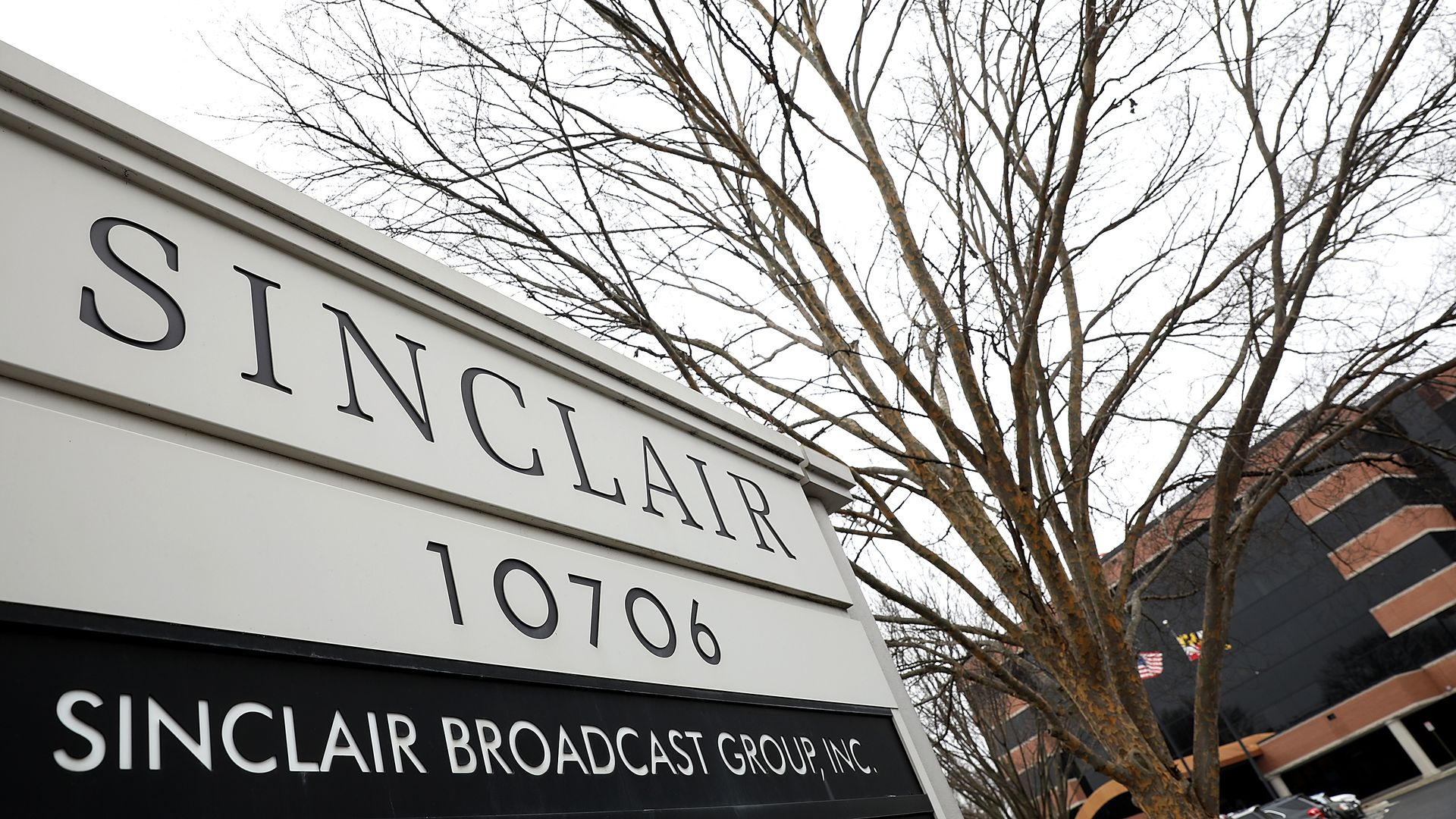 Sinclair broadcasting group sign.
