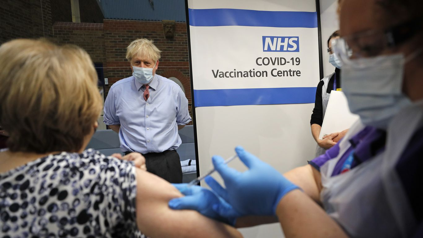 U K Says It Vaccinated More Than 130 000 People In First Week Of Program Axios Boris johnson says all schools in england must close; u k says it vaccinated more than 130