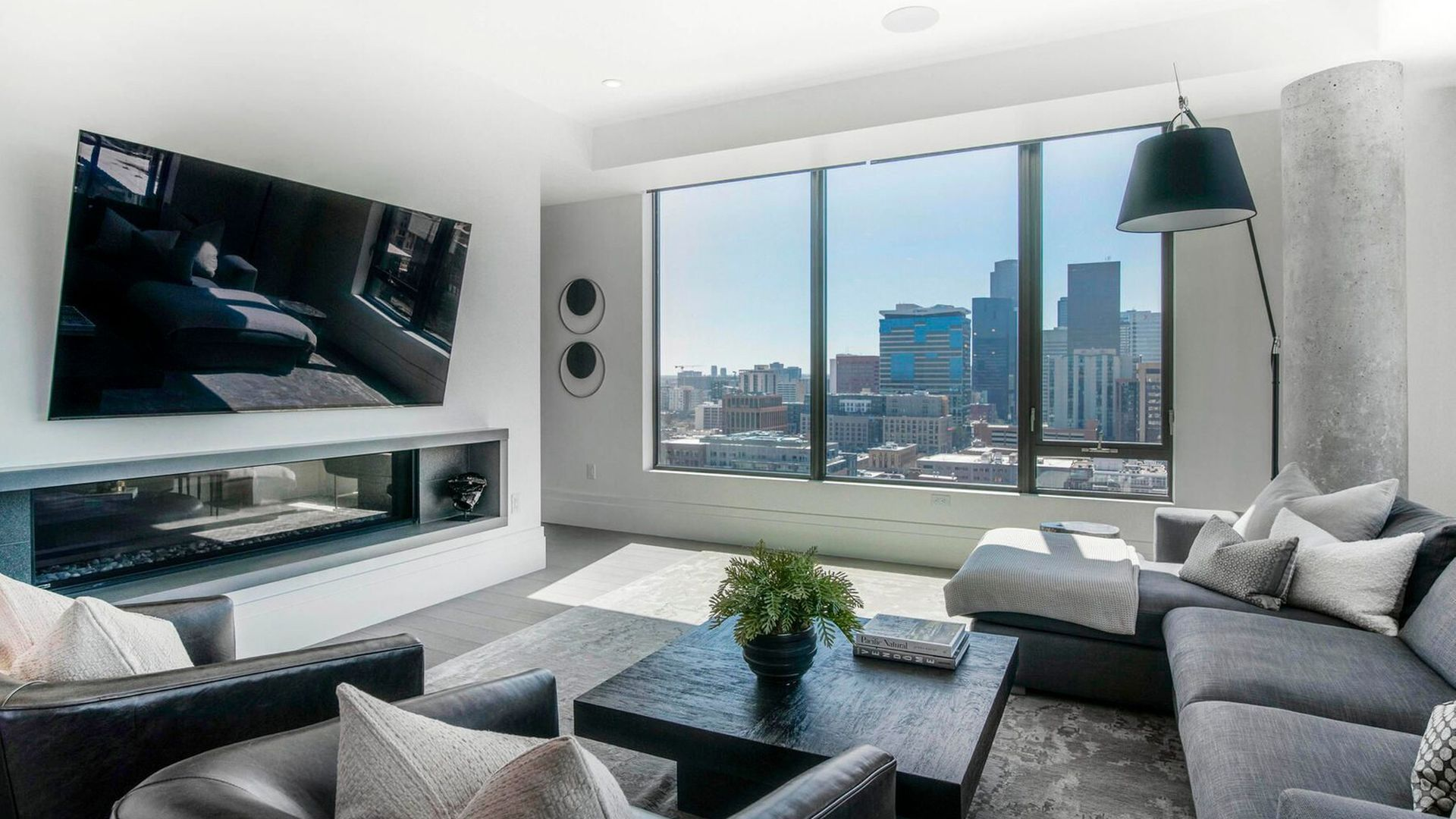 Photo of the penthouse living room