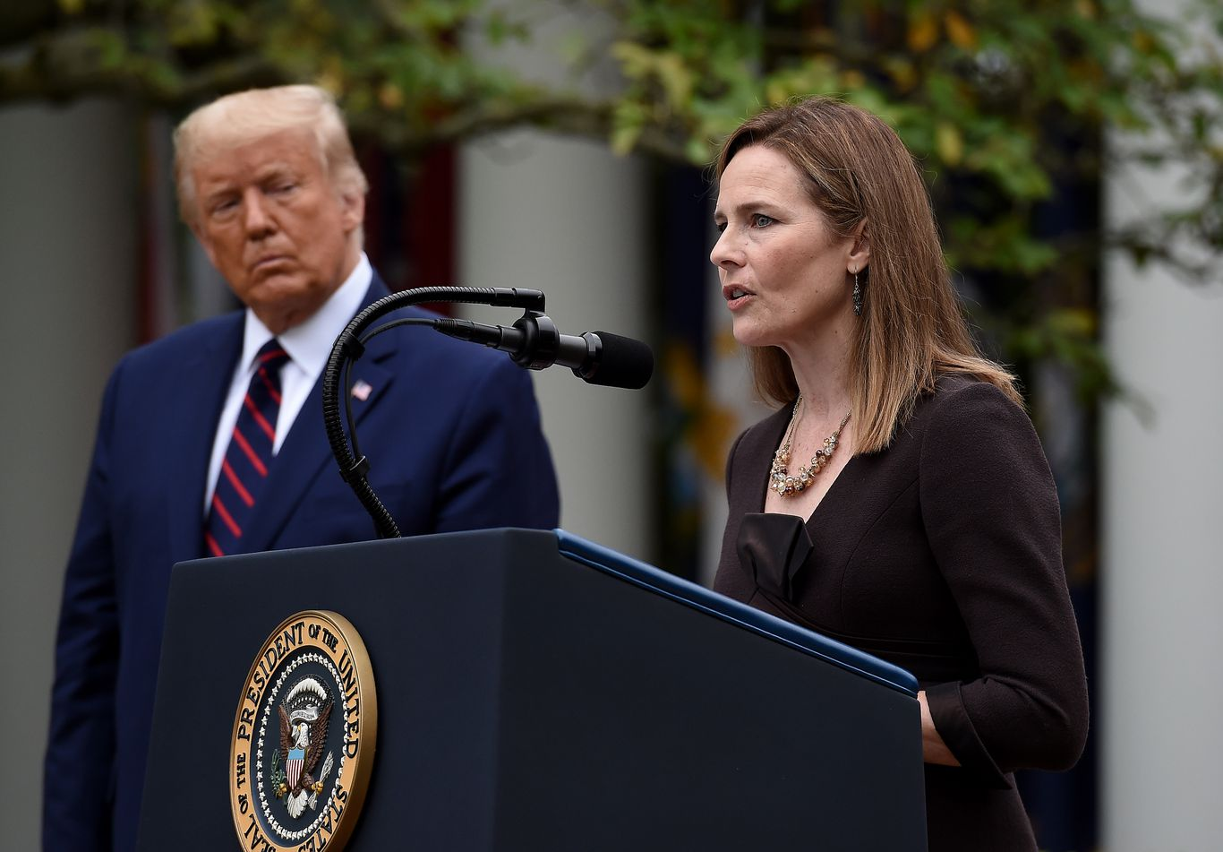 Amy Coney Barrett says Trump offered her nomination 3 days after Ginsburg's death