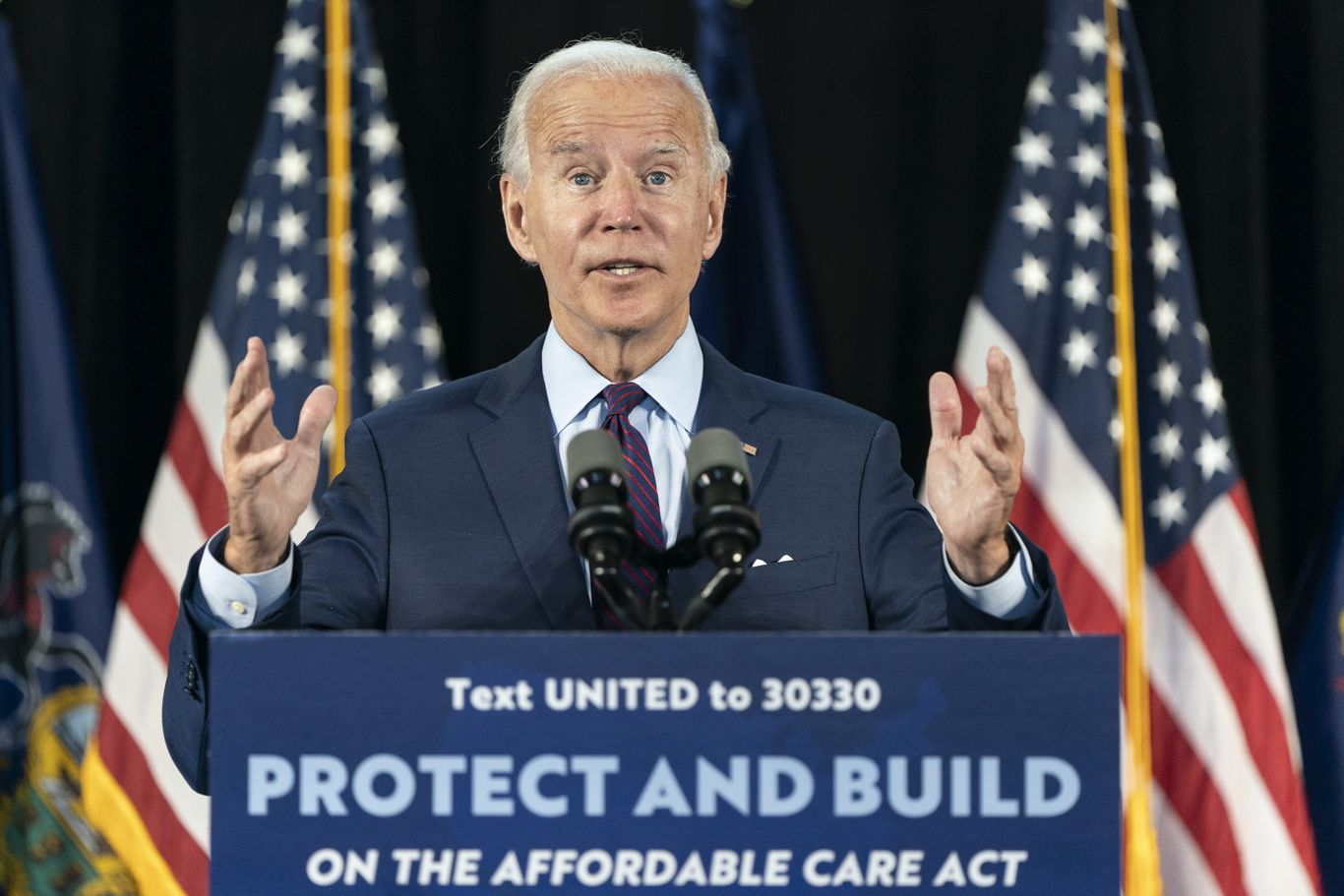 """Biden says Trump has """"cozied up"""" to Putin, requires """"extra knowledge"""" on Russian bounty allegations thumbnail"""