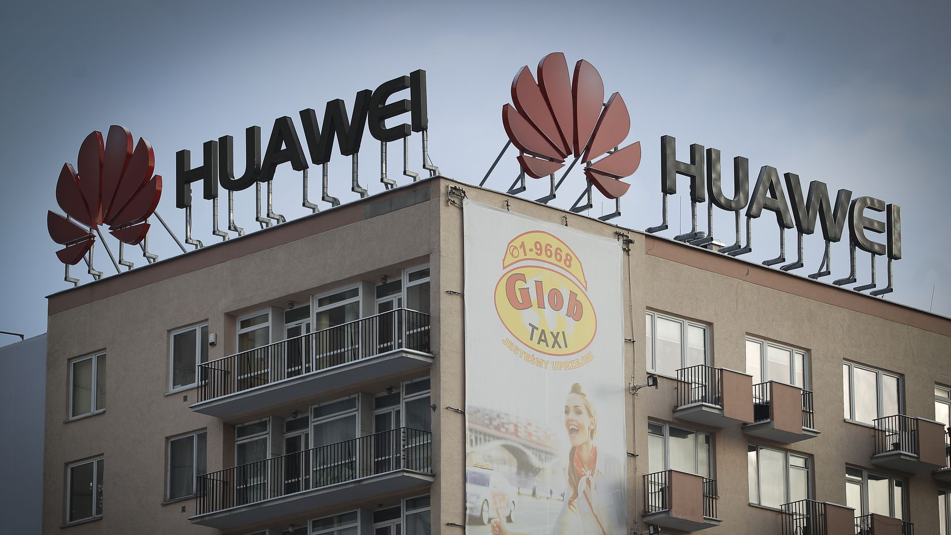 Huawei building in Warsaw, Poland.