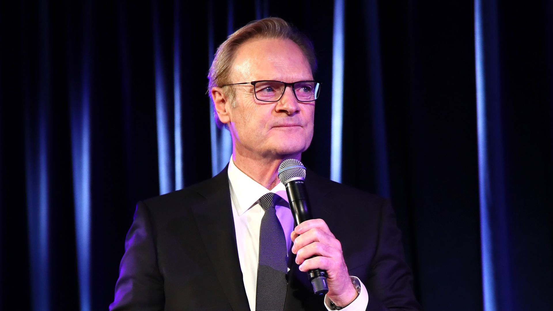 TV Anchor Lawrence O'Donnell speaks at The Hospital for Special Surgery 35th Tribute Dinner at the American Museum of Natural History on June 4