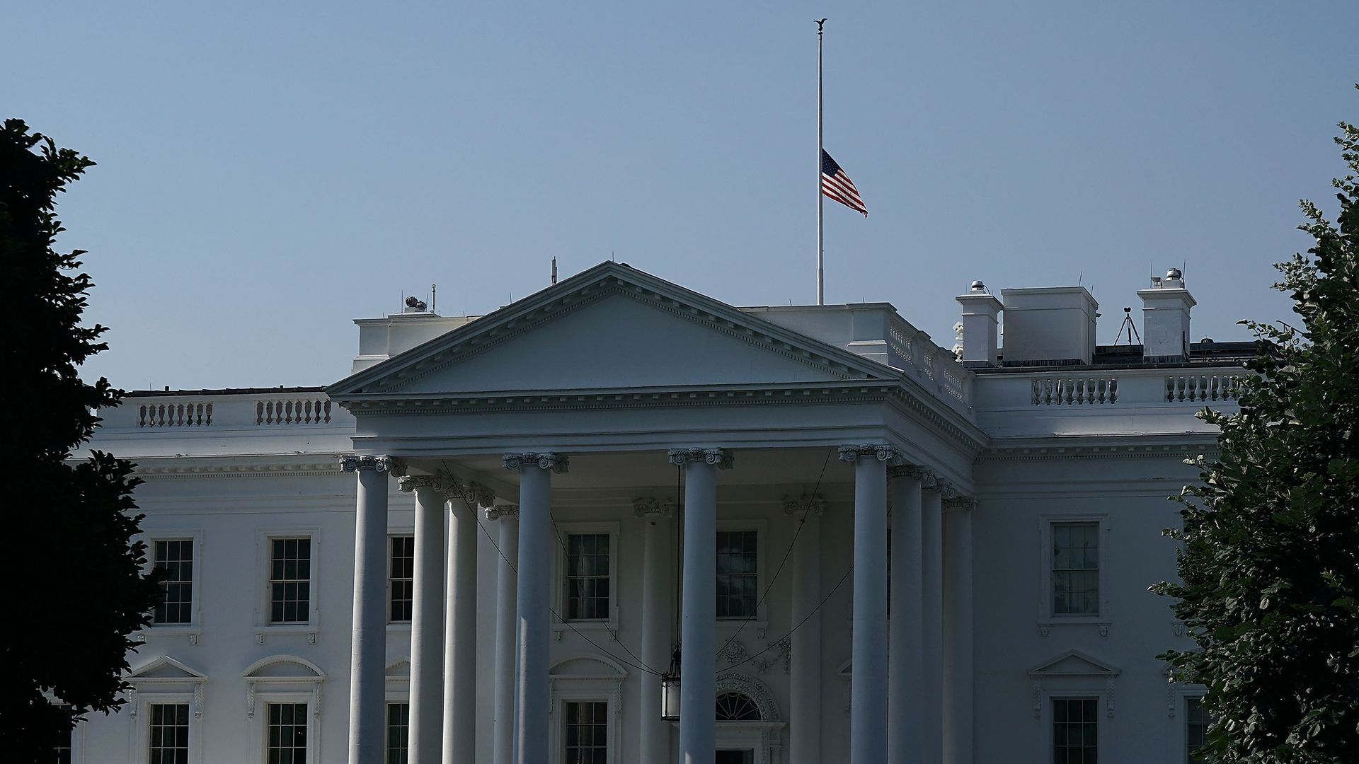 White House flag flown at half-staff