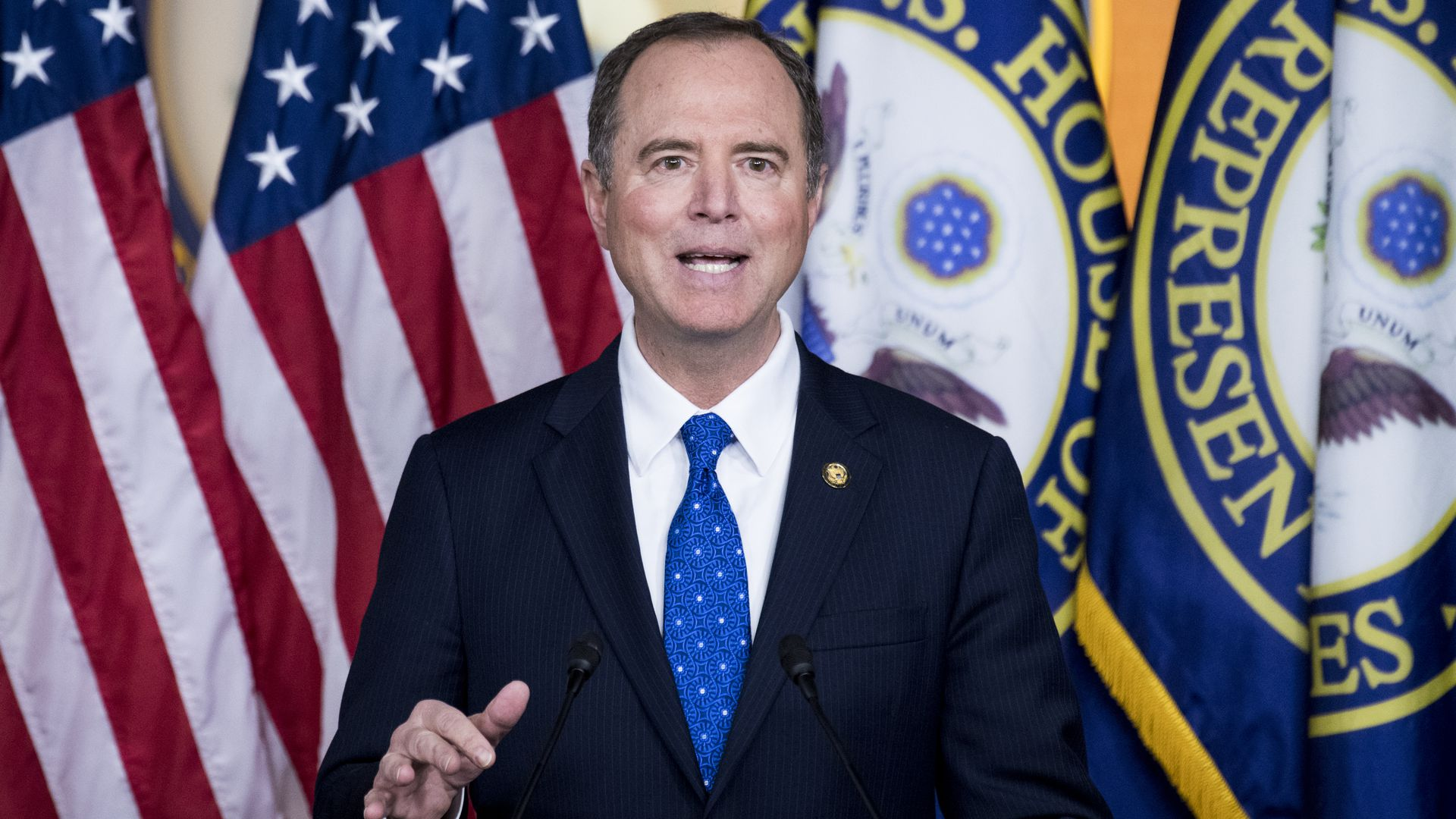 House Intelligence Committee chairman Adam Schiff, D-Calif., holds a press conference on the committees impeachment report in the Capitol on Tuesday, Dec. 3