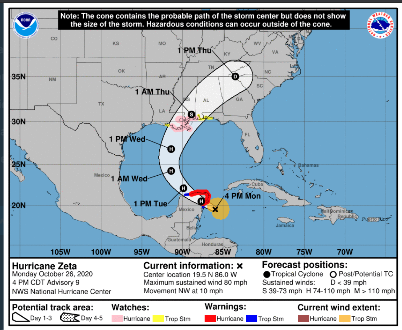 Gulf Coast braces for Zeta after storm strengthens into hurricane thumbnail