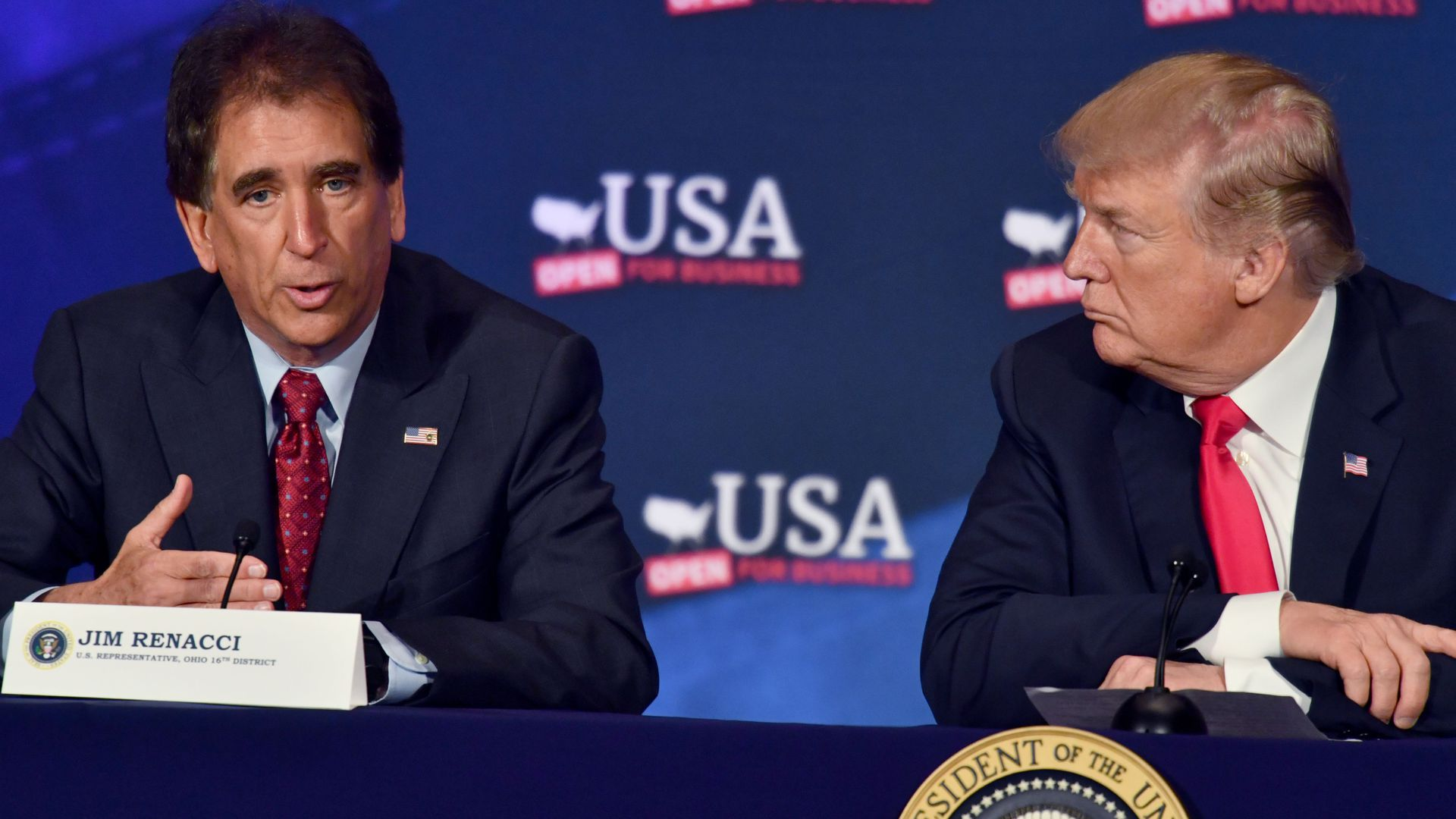 President Trump and Jim Renacci