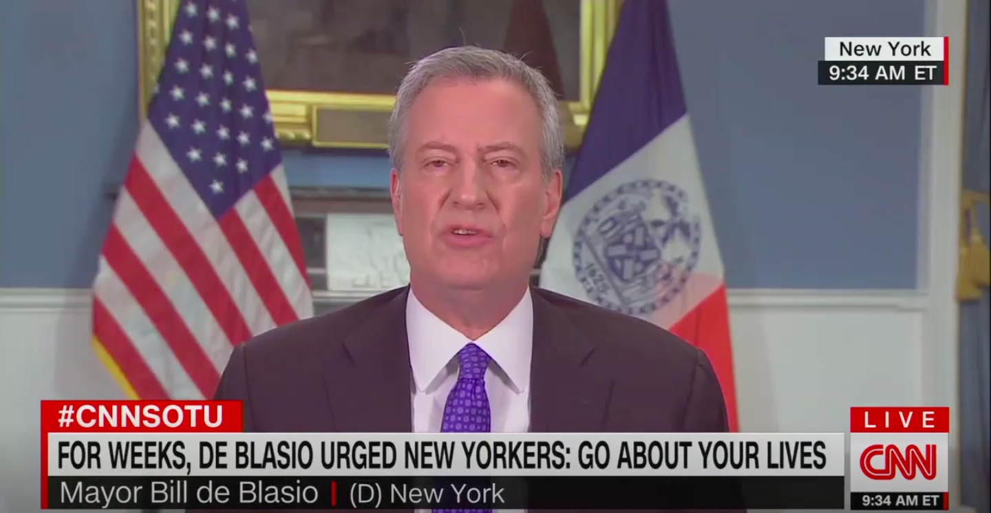 "De Blasio on downplaying crisis: ""None of us have time to look backward"""