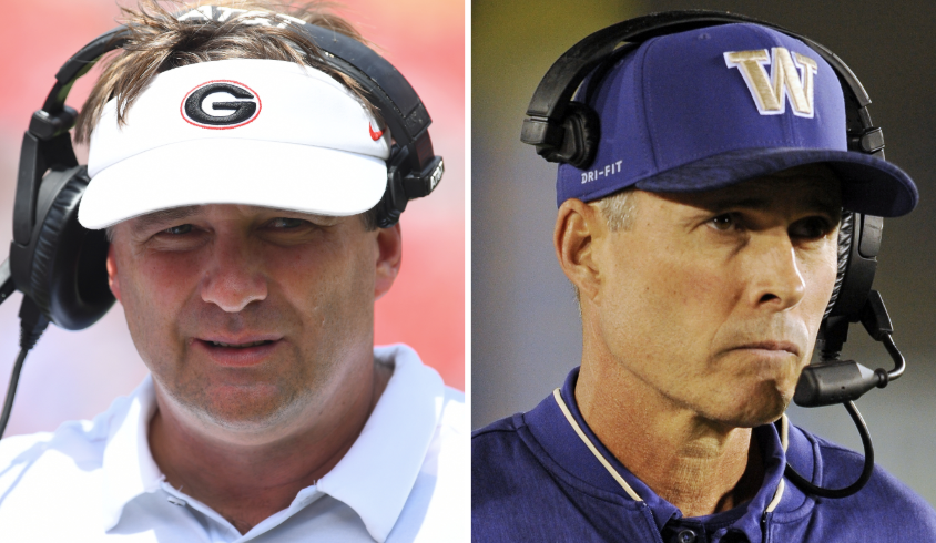 Kirby Smart and Chris Petersen