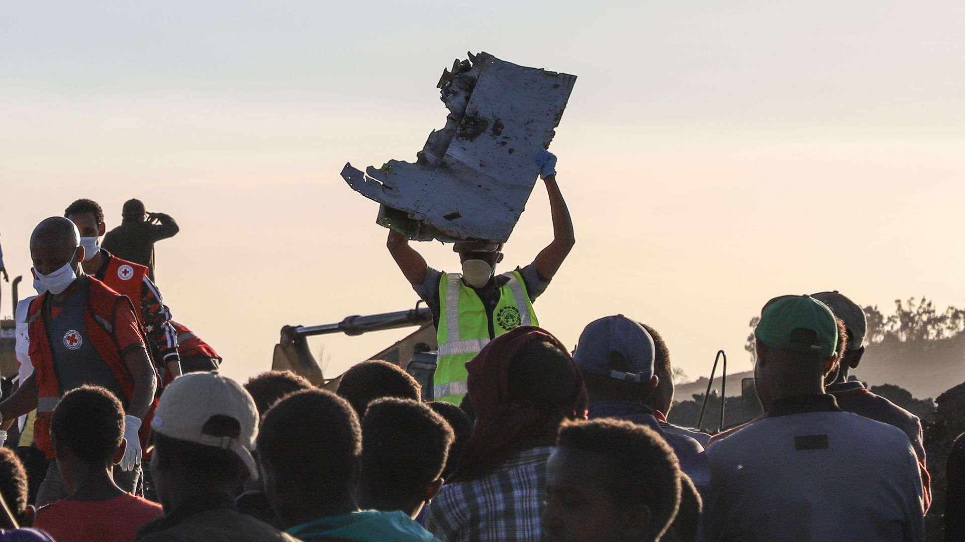 Wreckage from the Ethiopian Airlines crash.
