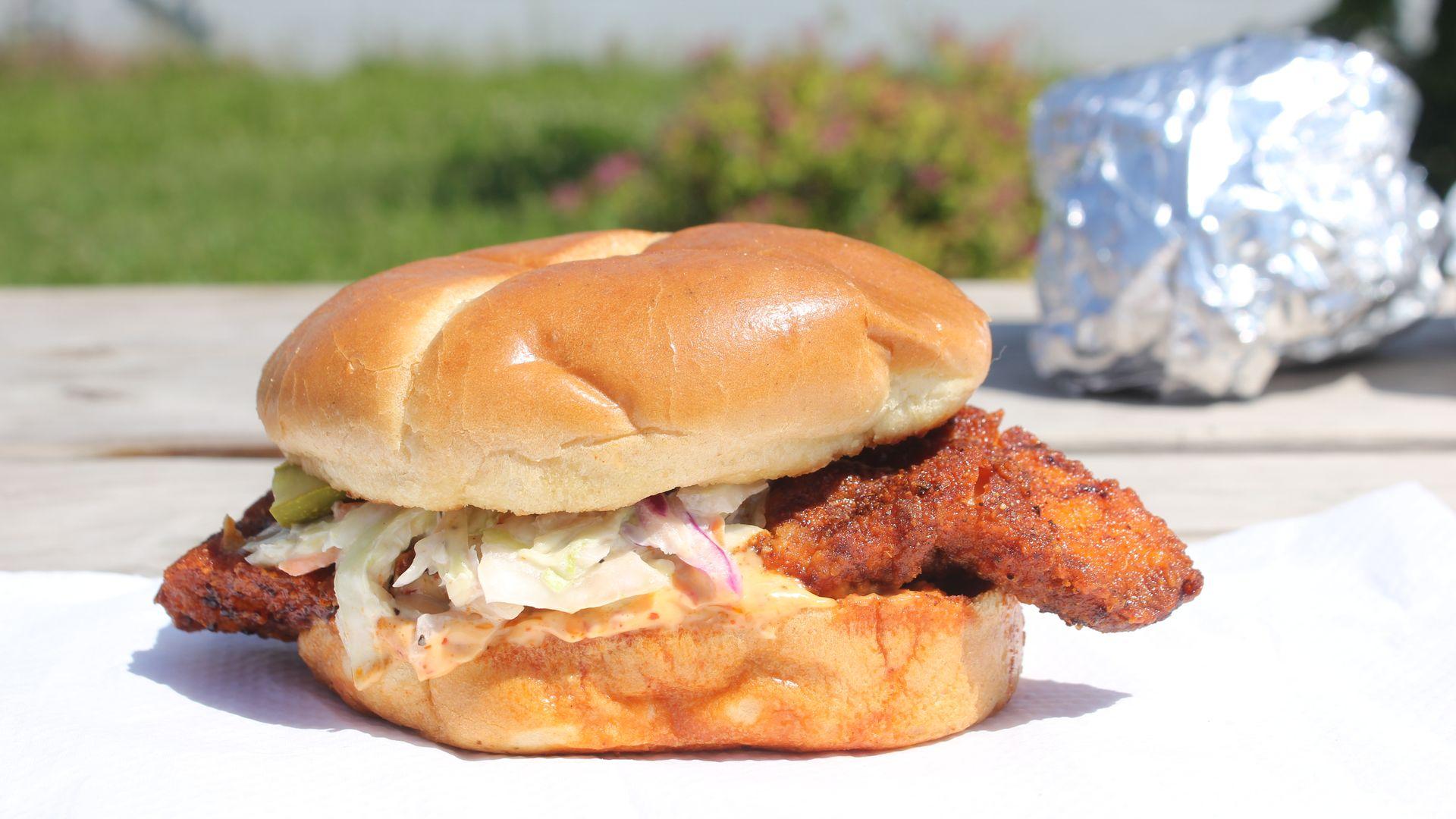 The Original Spicy Nashville sandwich from Chicken Heat.