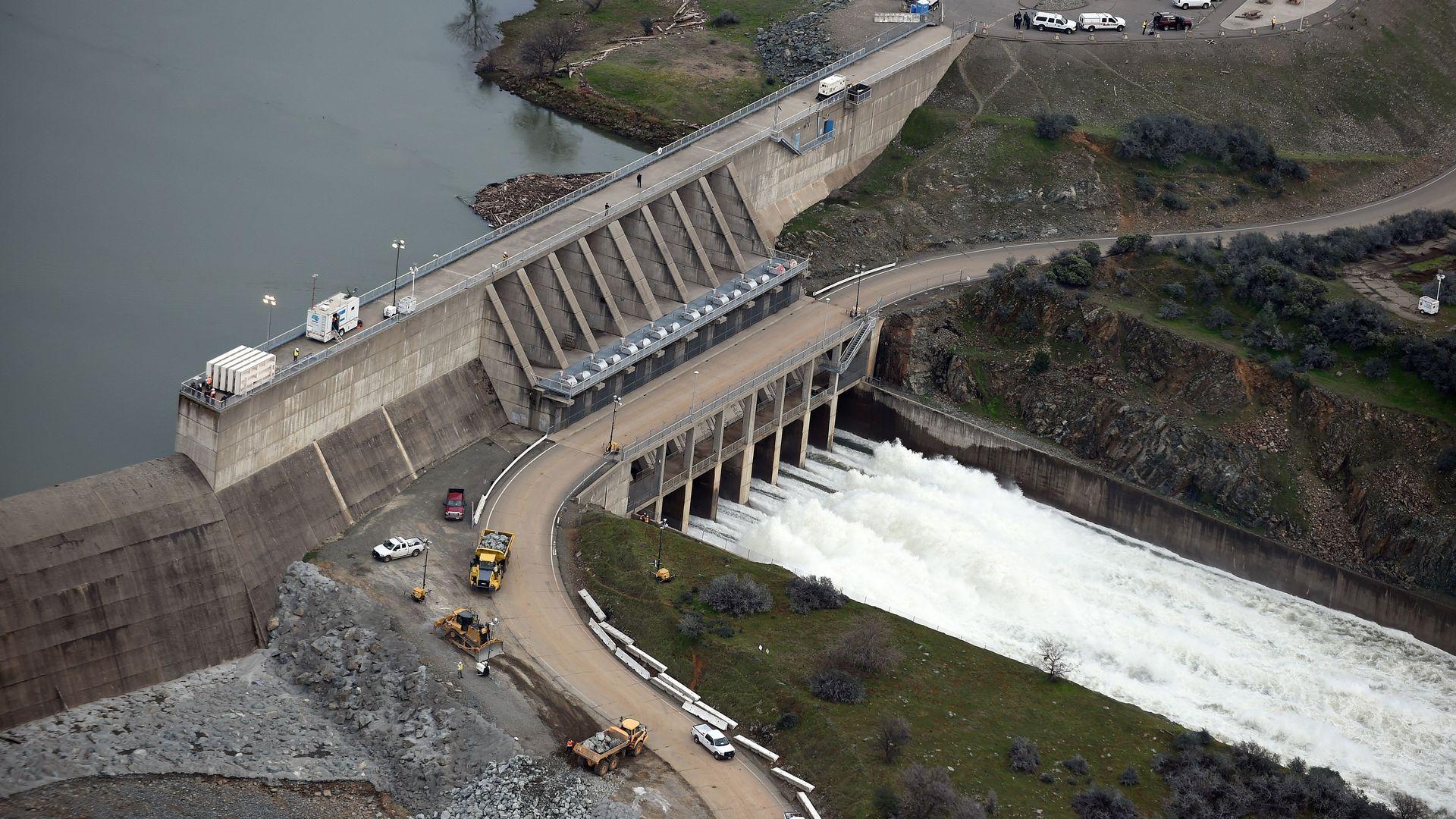 The Oroville Dam in Oroville, California, in 2017.