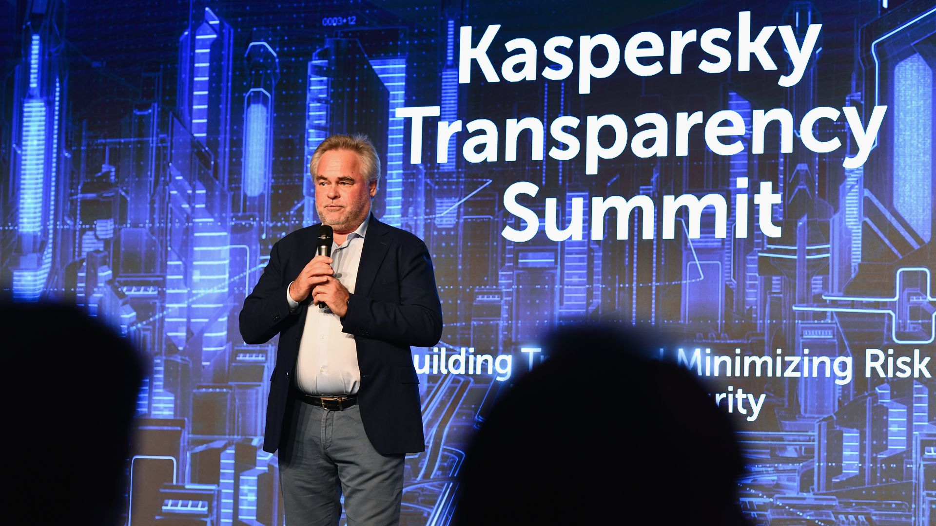 Eugene Kaspersky talking on stage