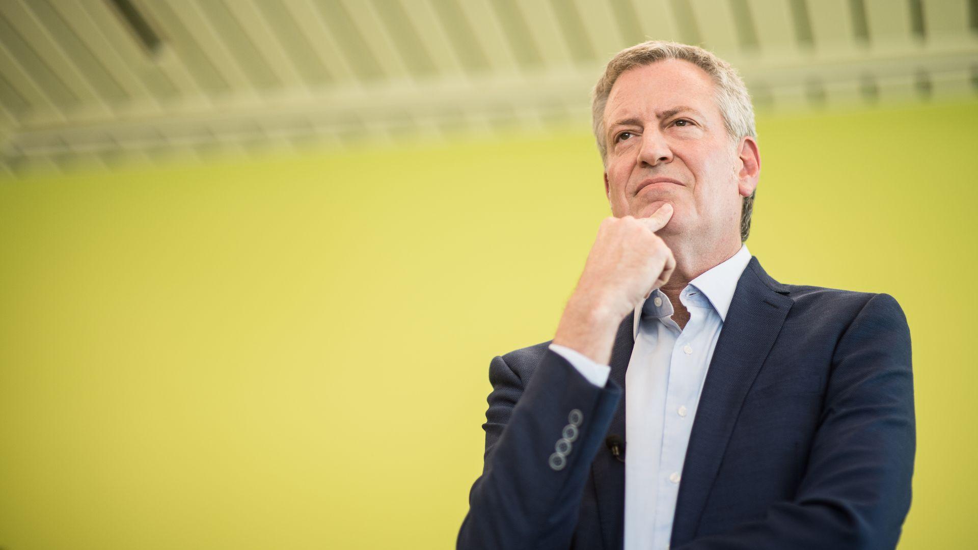 NYC Mayor Bill de Blasio polls at the bottom of Democrats