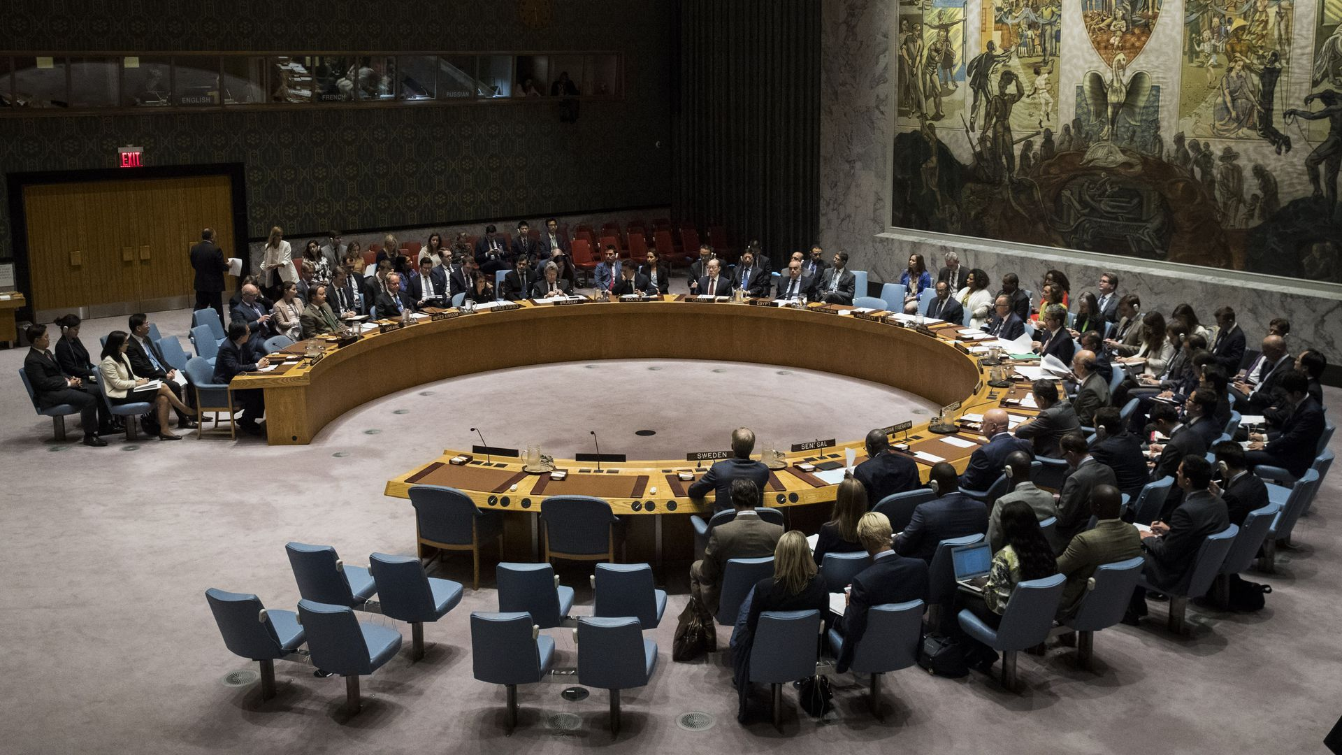 United Nations Security Council: Photo by Drew Angerer/Getty Images