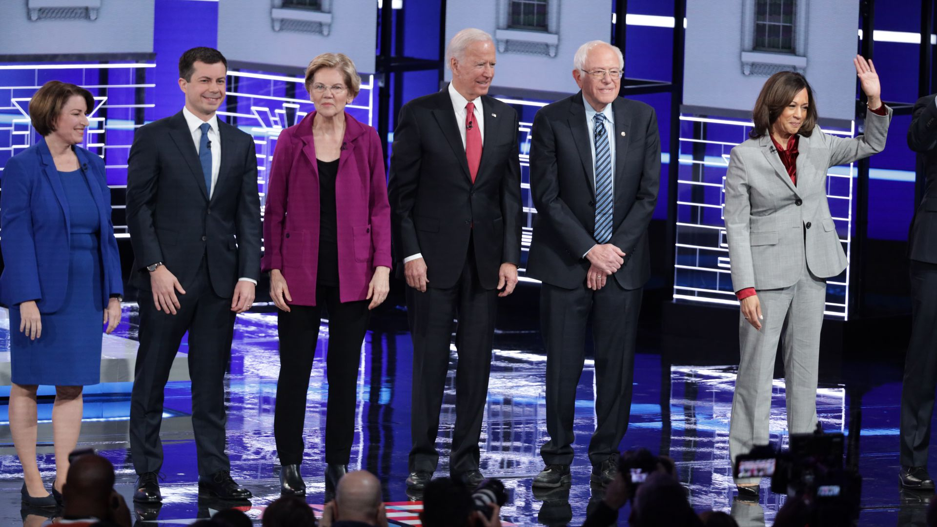 2020 Democratic candidate on the debate stage in Atlanta