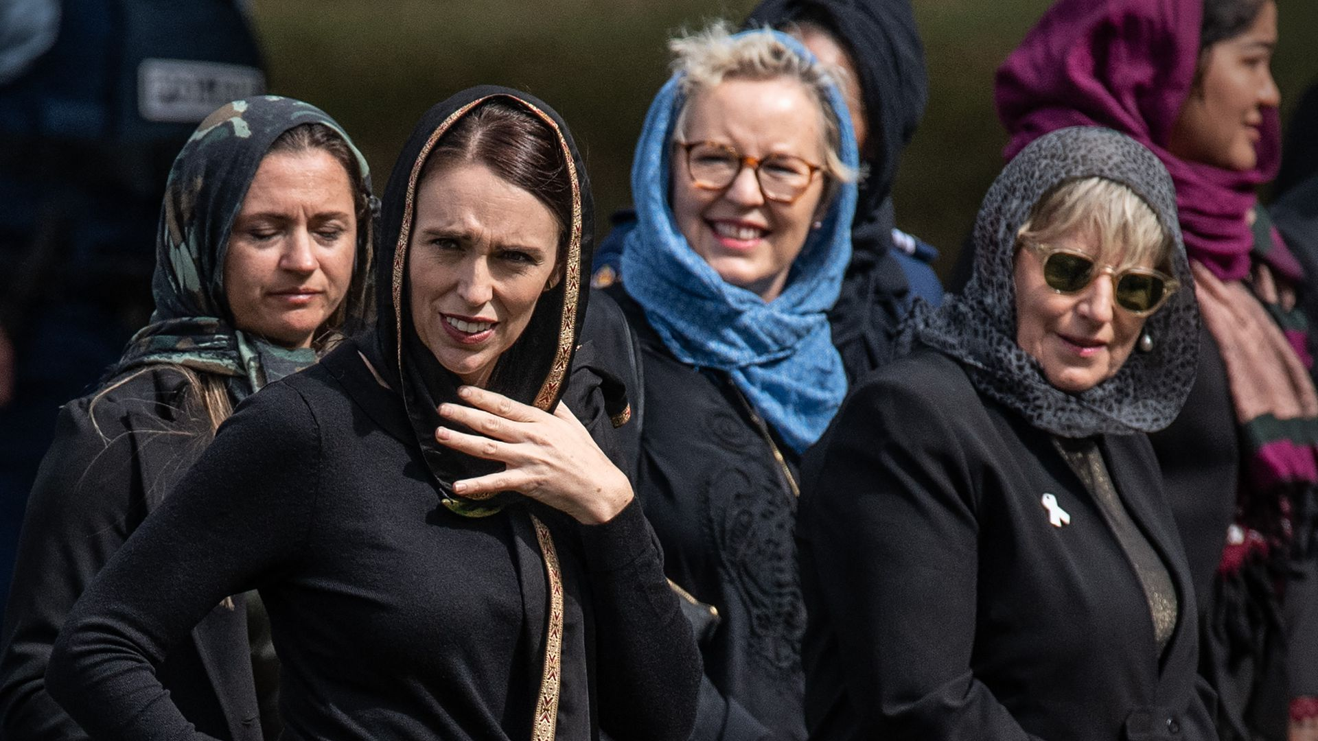 Prime Minister Jacinda Ardern during Friday's national day of reflection.