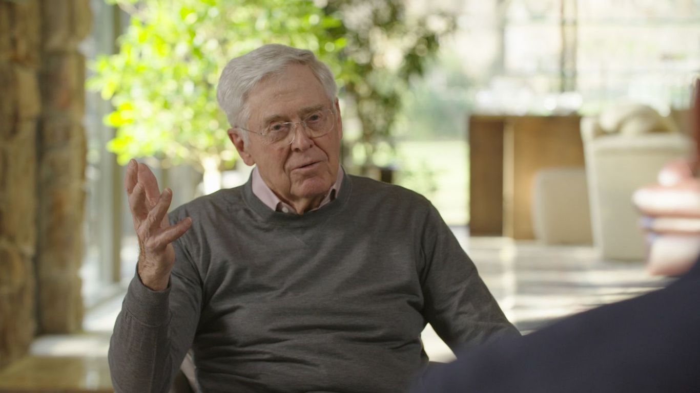 "Charles Koch says he ""screwed up by being partisan"" in political spending thumbnail"