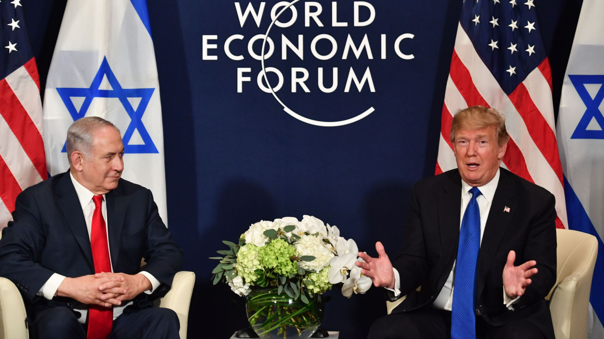 Trump and Netanyahu talk at Davos