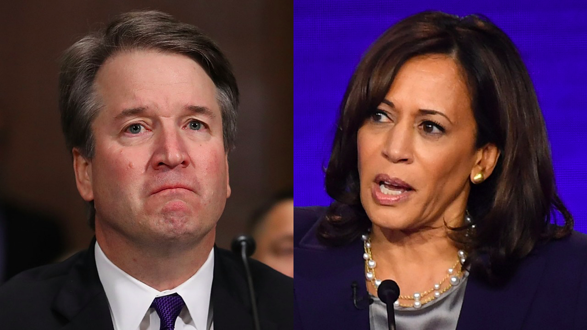 Brett Kavanaugh and Kamala Harris