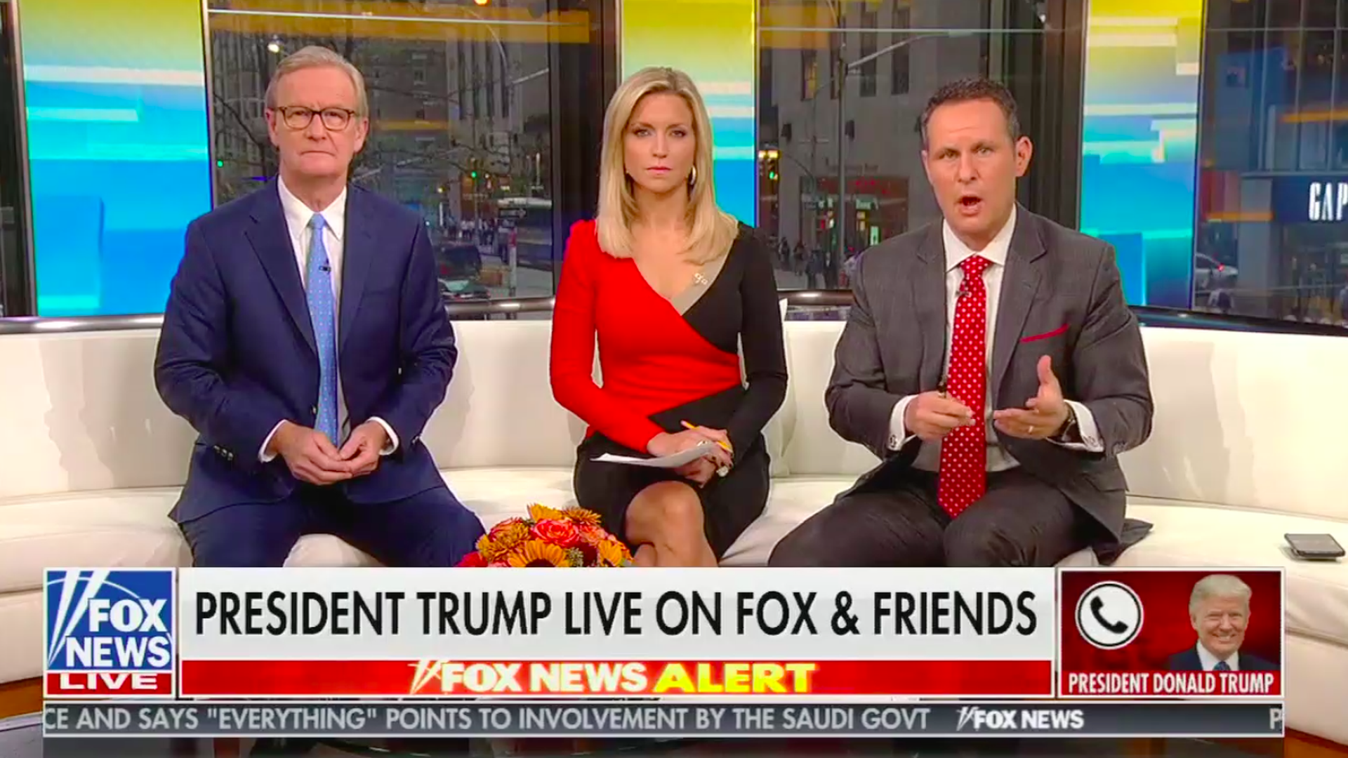 A screen-shot of Fox & Friends.