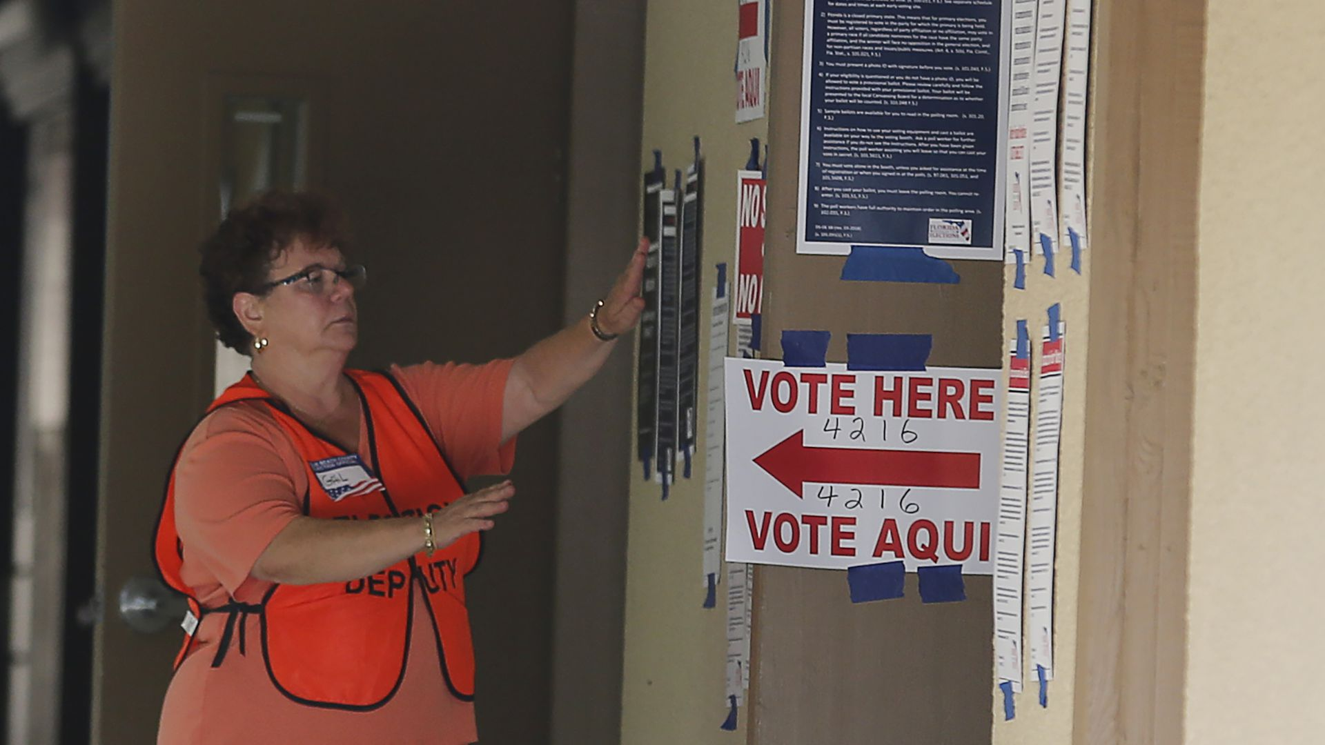 A polling place in Florida
