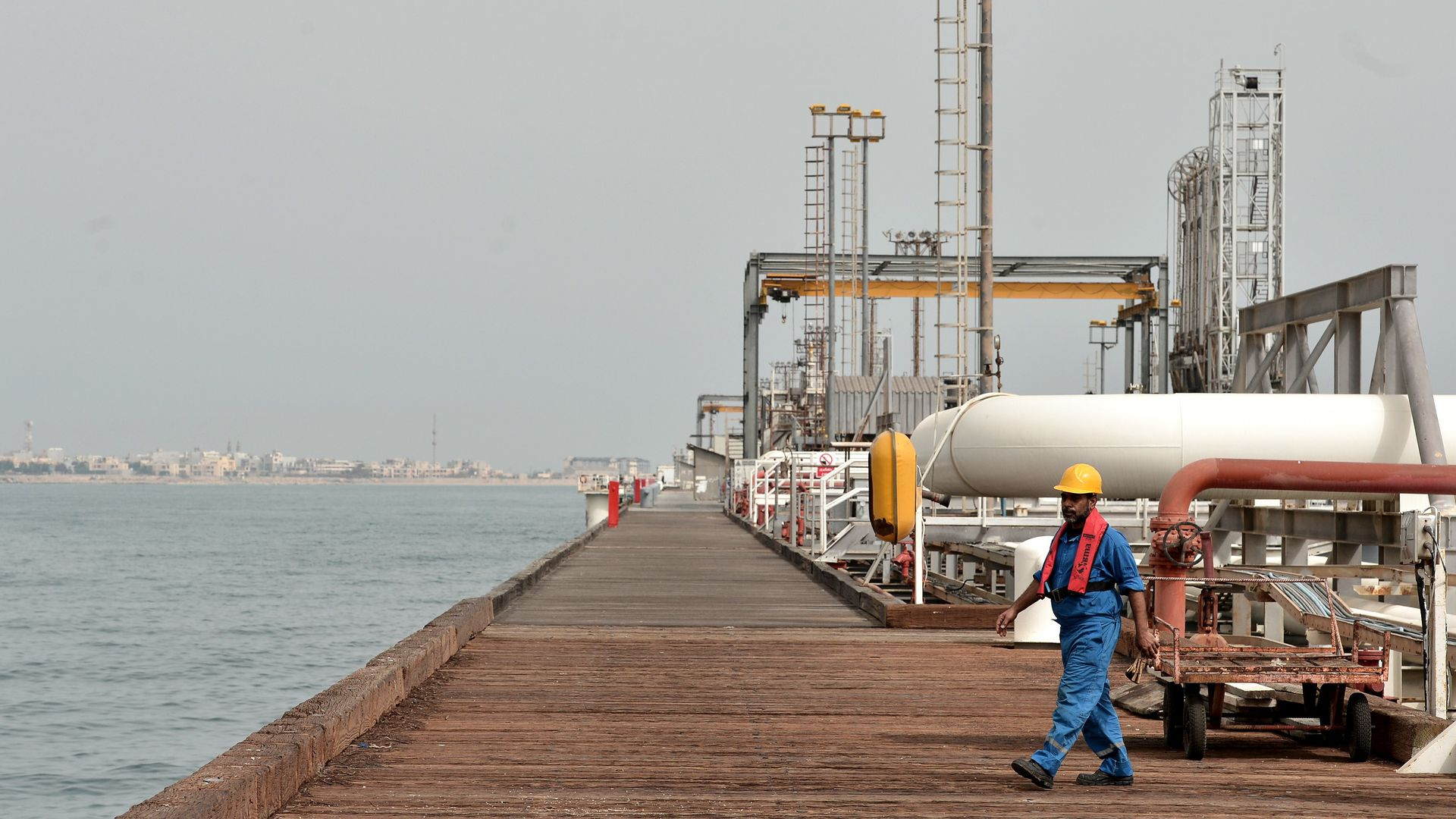 Port of Kharg Island Oil Terminal.
